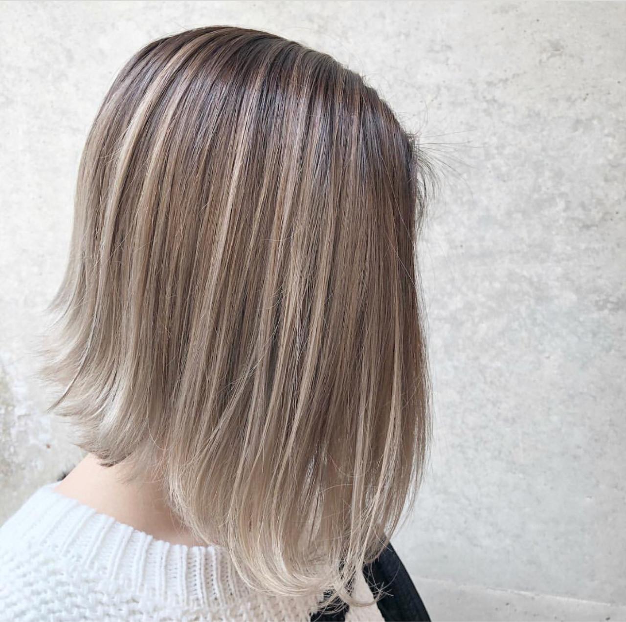 ストリート グラデーションカラー ボブ 外国人風カラー ヘアスタイルや髪型の写真・画像