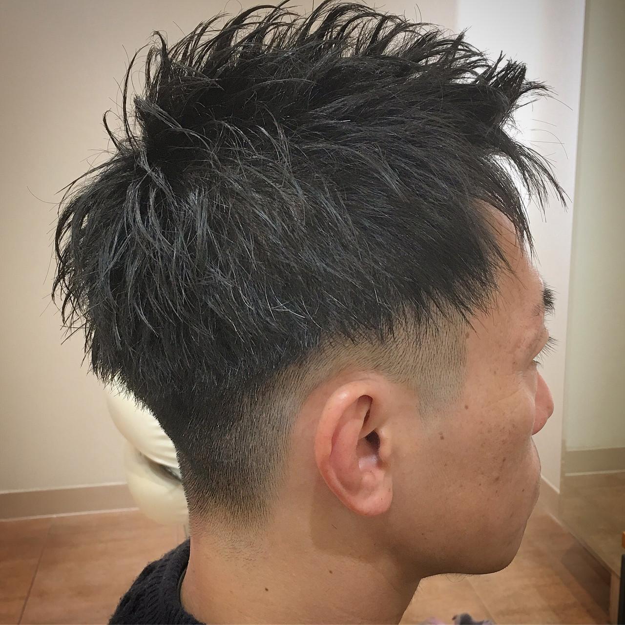 ストリート ツーブロック ショート ベリーショート ヘアスタイルや髪型の写真・画像