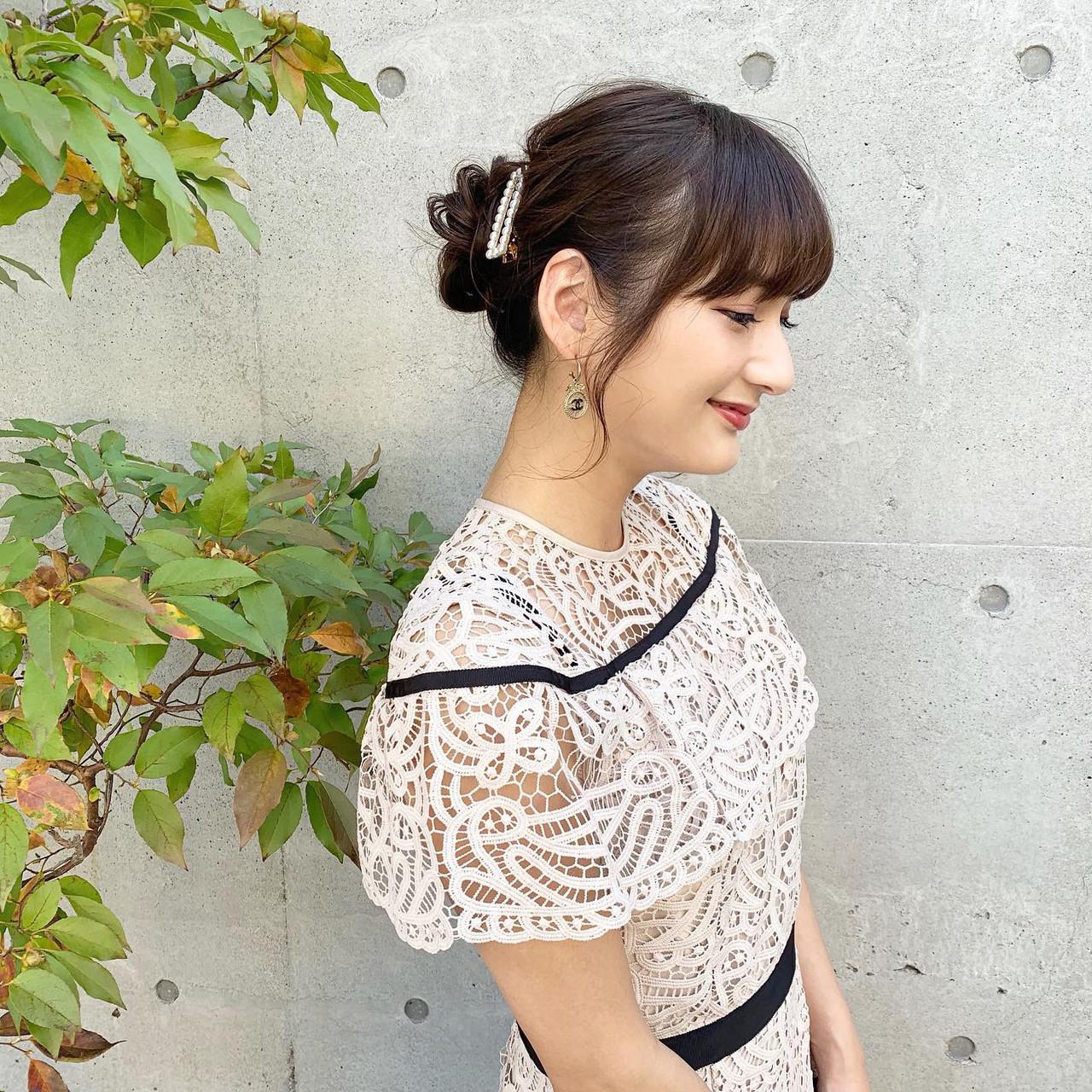 結婚式 結婚式ヘアアレンジ ヘアアレンジ ヘアセット ヘアスタイルや髪型の写真・画像