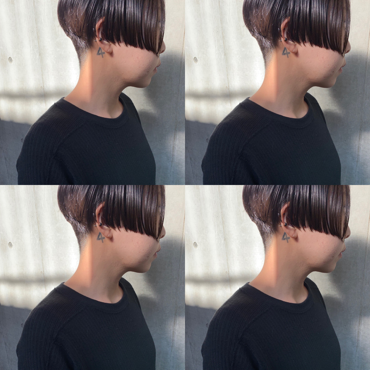 ショート 切りっぱなしボブ ショートボブ ショートヘア ヘアスタイルや髪型の写真・画像