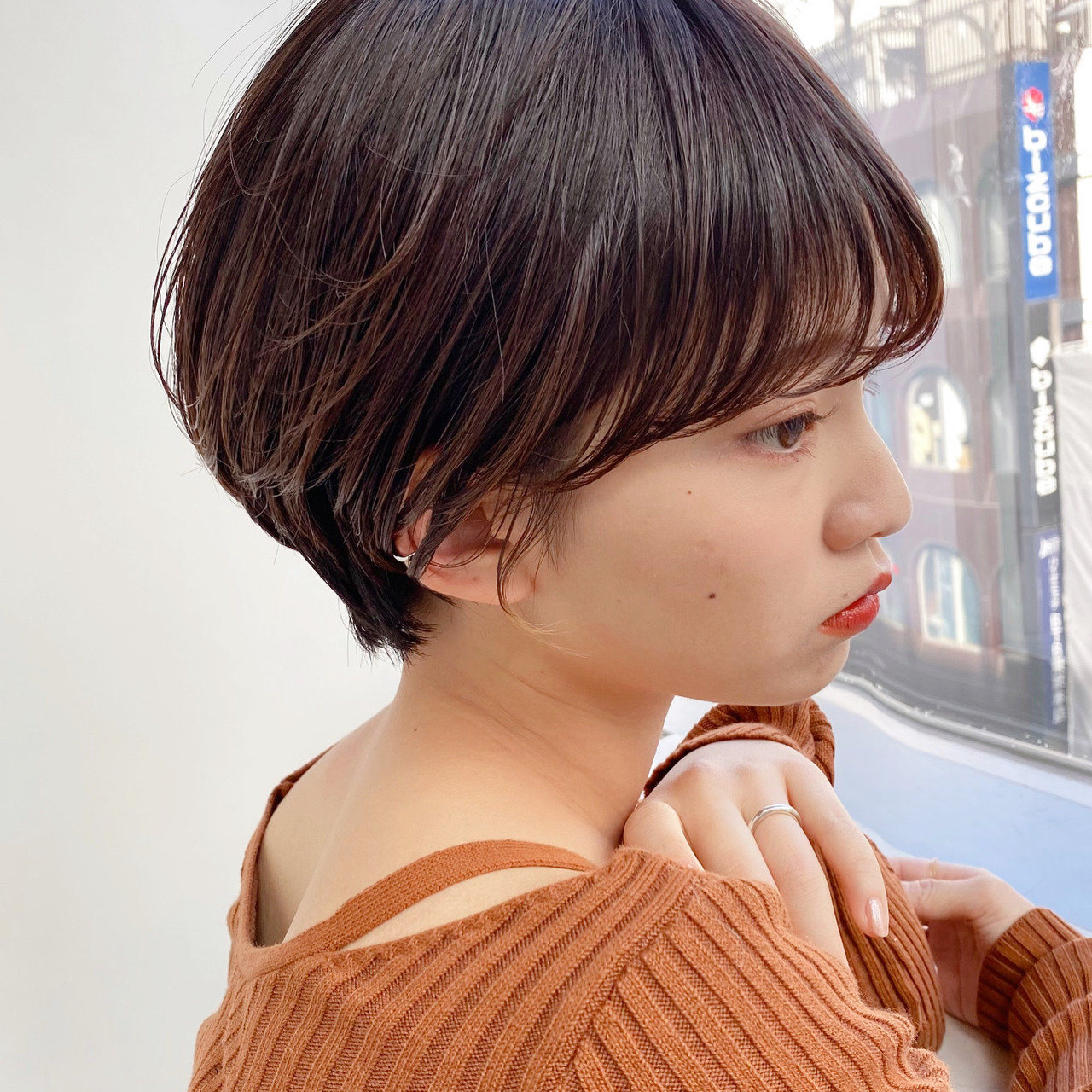 小顔 ベリーショート マッシュショート ショート ヘアスタイルや髪型の写真・画像