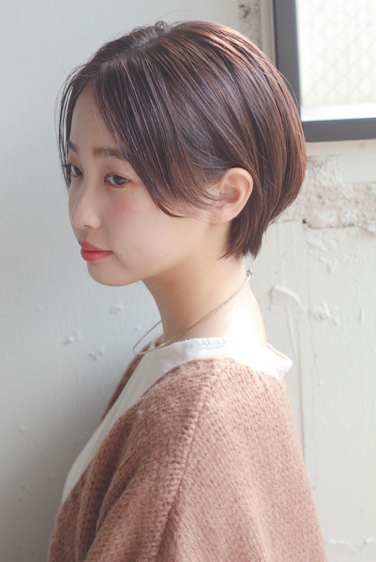 アンニュイほつれヘア モテ髪 透明感 ショート ヘアスタイルや髪型の写真・画像