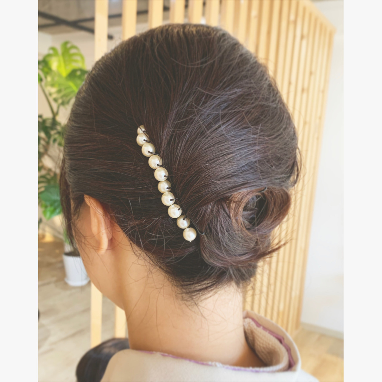 エレガント ヘアアレンジ 和装髪型 和装ヘア ヘアスタイルや髪型の写真・画像