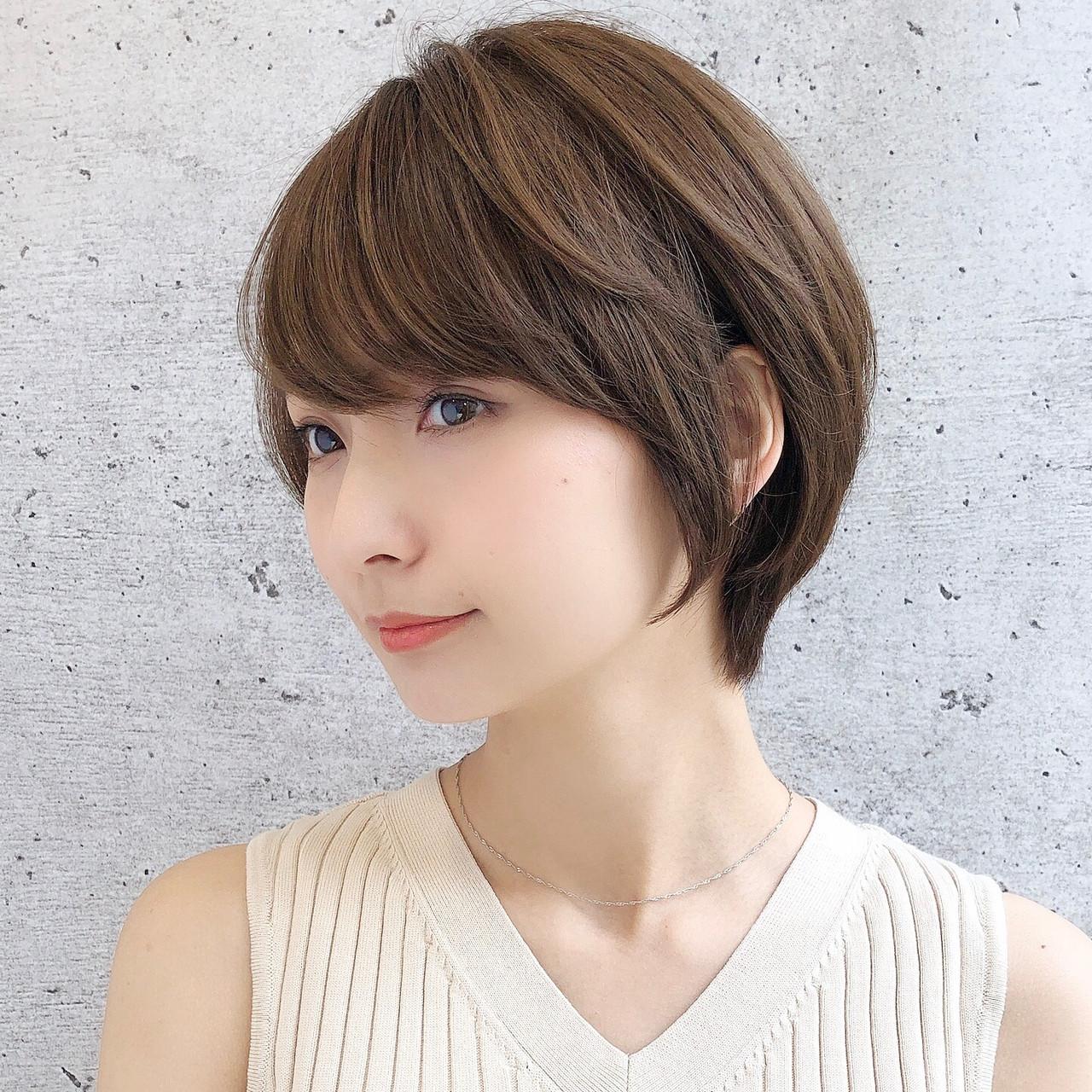 ショートボブ ナチュラル ショートヘア ベリーショート ヘアスタイルや髪型の写真・画像