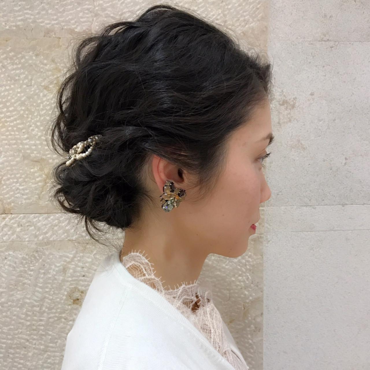 デート ミディアム ナチュラル 成人式 ヘアスタイルや髪型の写真・画像