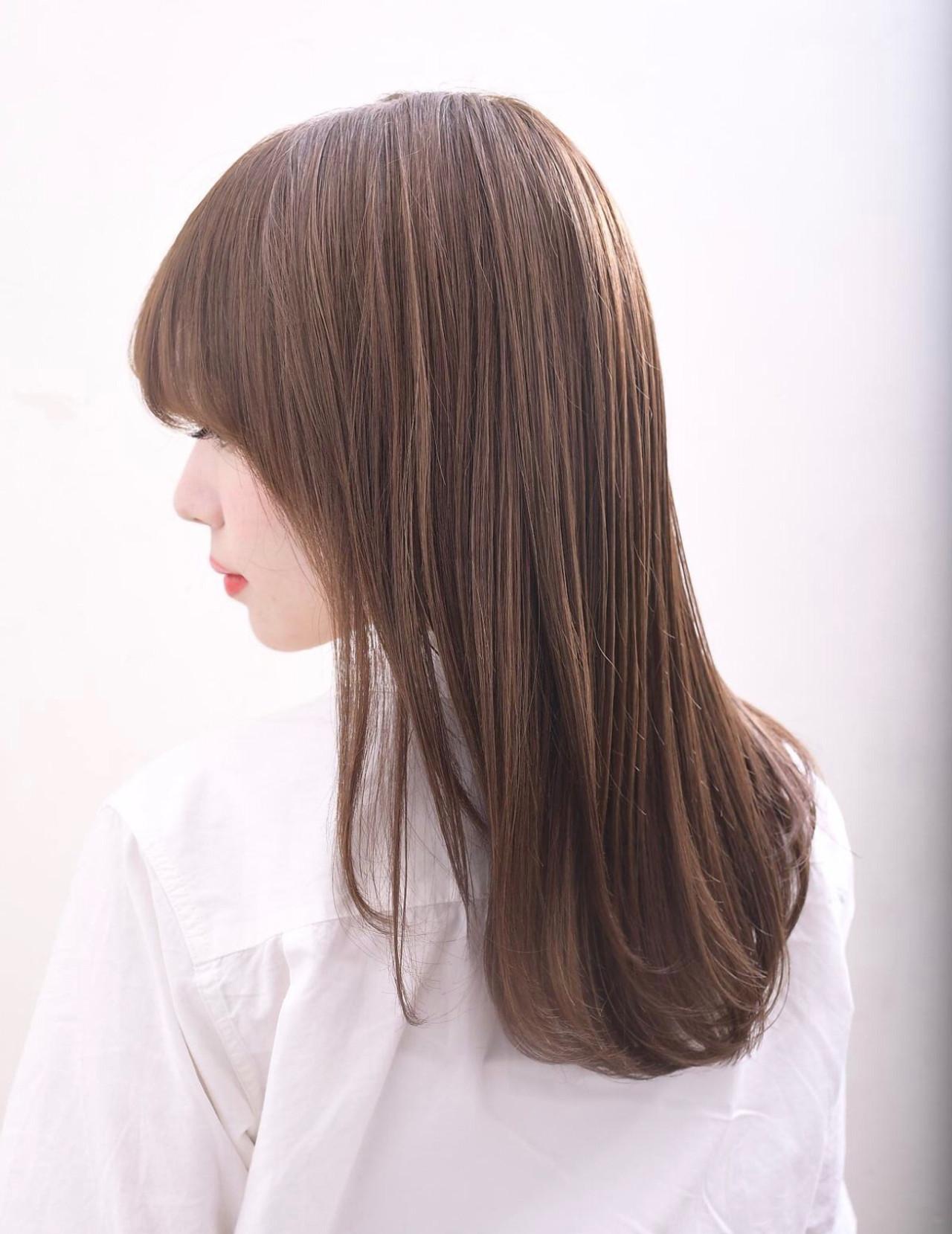 ロング ナチュラル グレージュ ナチュラル可愛い ヘアスタイルや髪型の写真・画像