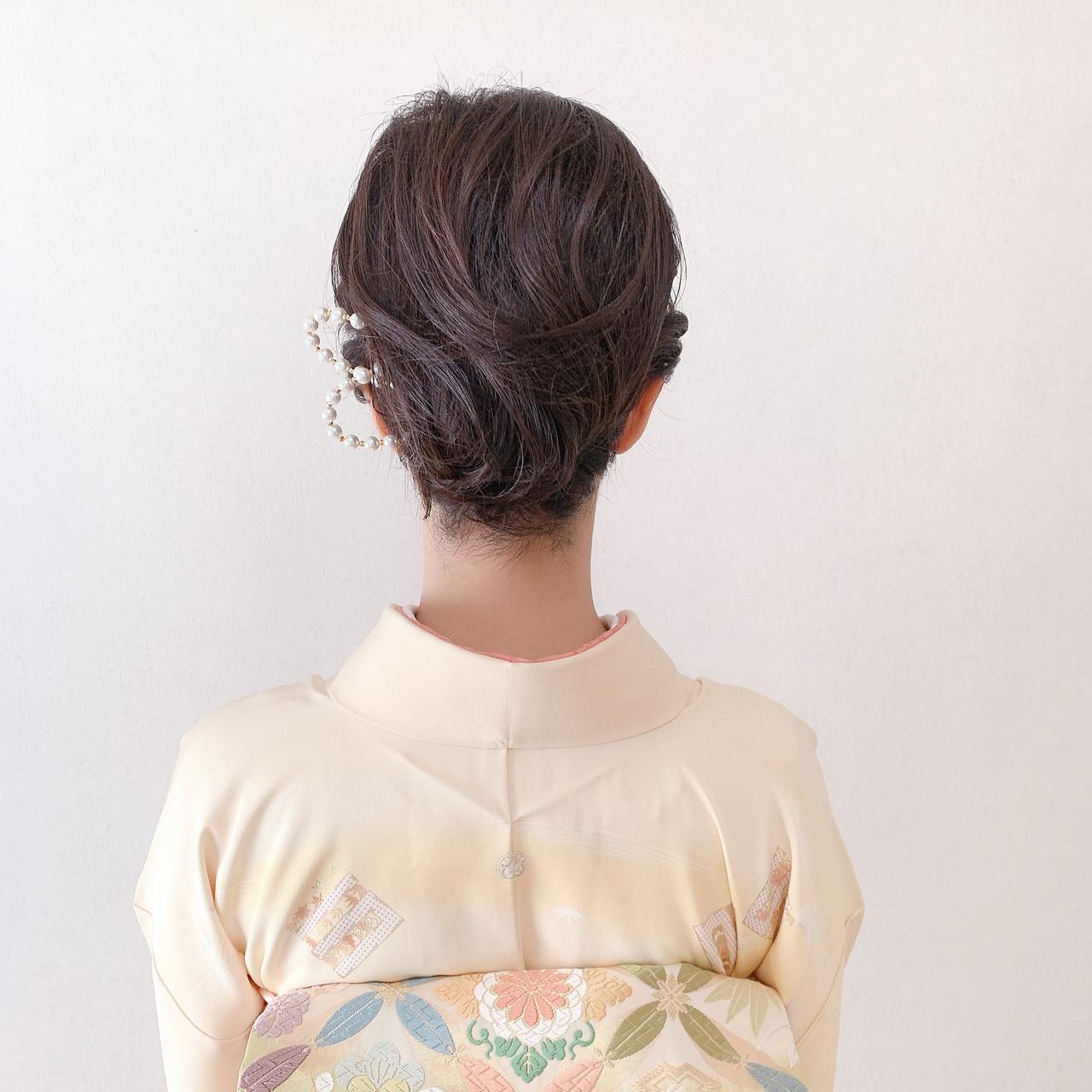 和装ヘア ボブ 結婚式ヘアアレンジ ショートボブ ヘアスタイルや髪型の写真・画像