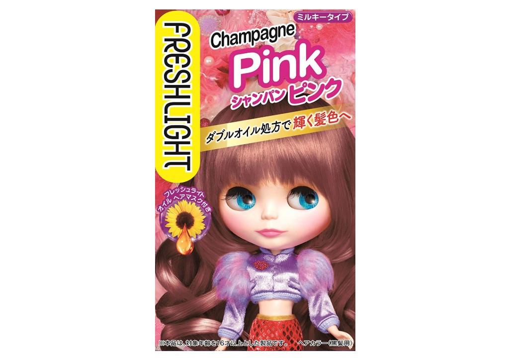 肌色をきれいに見せる「フレッシュライト ミルキーヘアカラー シャンパンピンク」