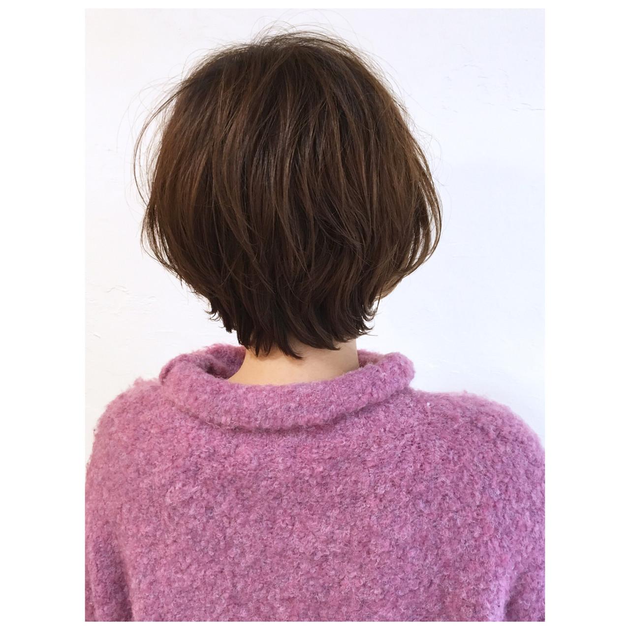パーマ ショート ショートヘア ショートボブ ヘアスタイルや髪型の写真・画像