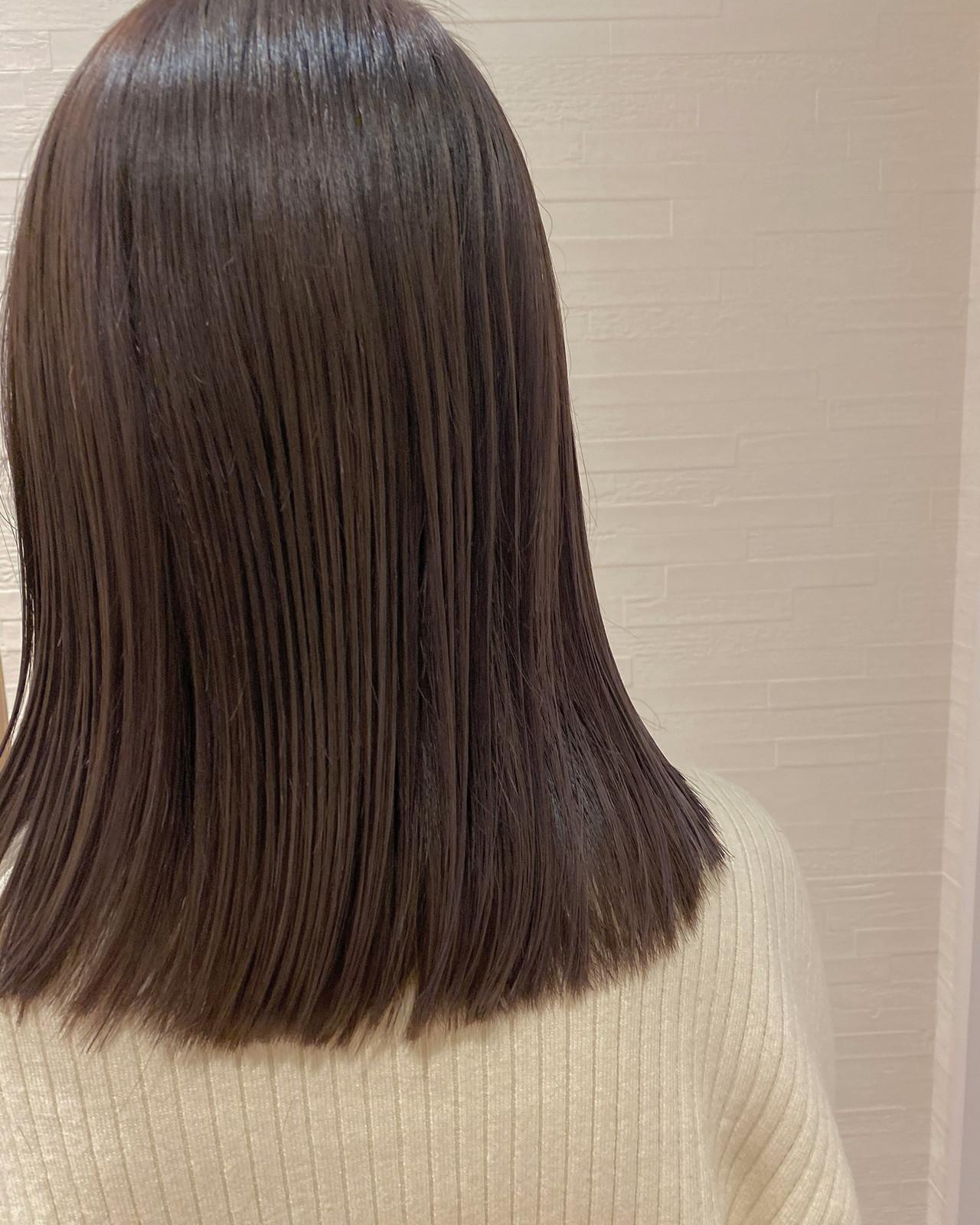 ナチュラル可愛い ピンクベージュ ラベンダーピンク ナチュラル ヘアスタイルや髪型の写真・画像