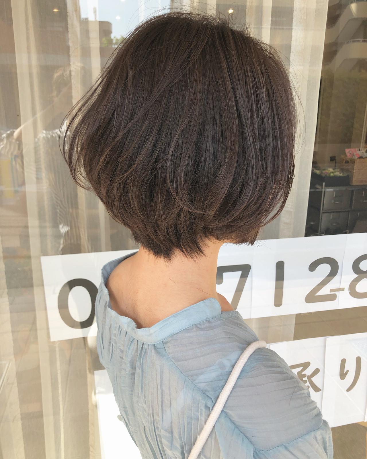 大人ショート ボブ マッシュショート ショートボブ ヘアスタイルや髪型の写真・画像