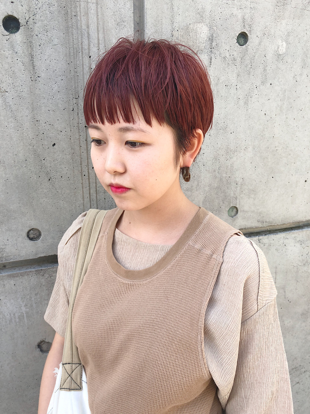 ショート ショートヘア ピンクブラウン ベリーショート ヘアスタイルや髪型の写真・画像