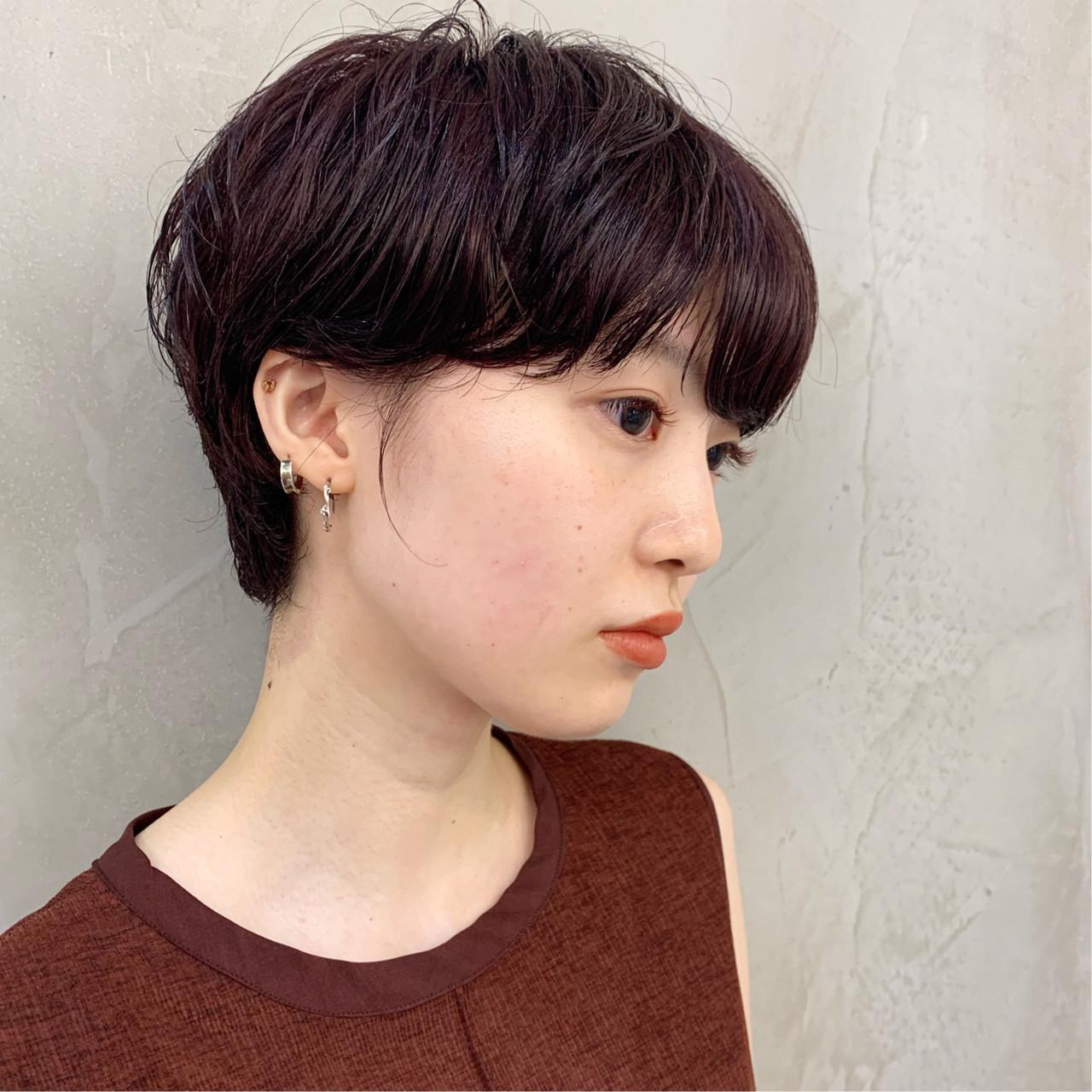 透明感 ショートヘア 上品 ショートボブ ヘアスタイルや髪型の写真・画像