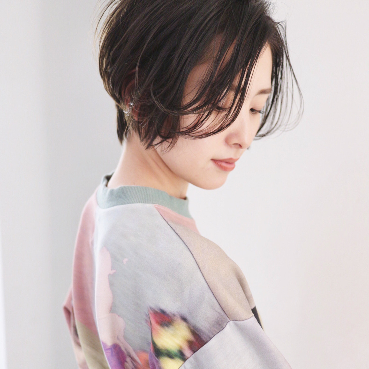 ショートボブ フェミニン ショート ハンサムショート ヘアスタイルや髪型の写真・画像