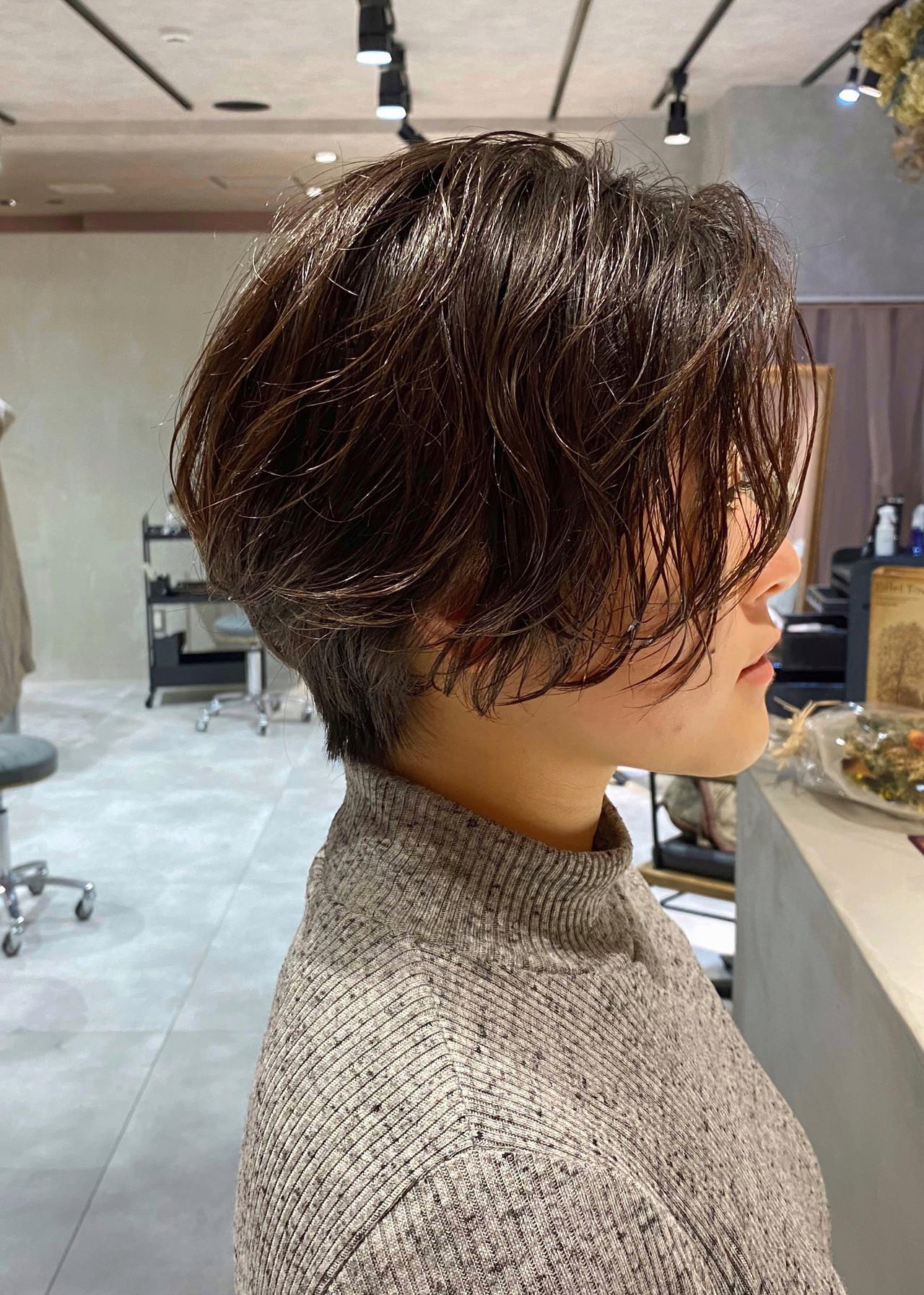 ショートヘア ナチュラル 抜け感 ショート ヘアスタイルや髪型の写真・画像