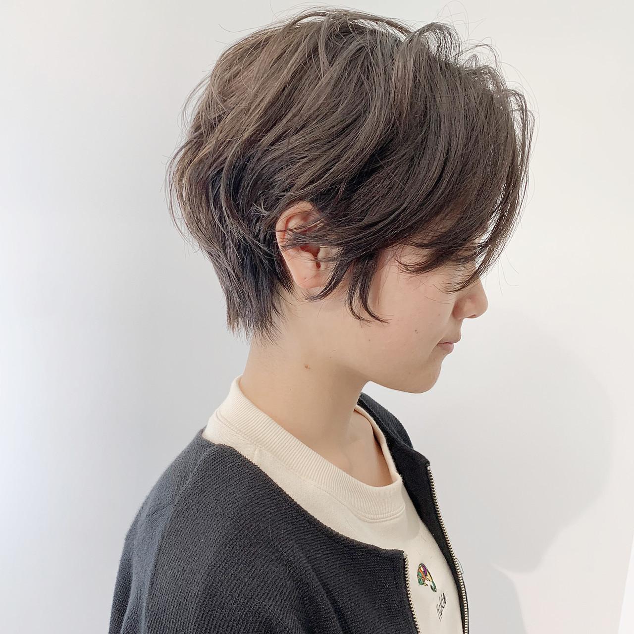 ショートボブ ハンサムショート ショート 大人ヘアスタイル ヘアスタイルや髪型の写真・画像