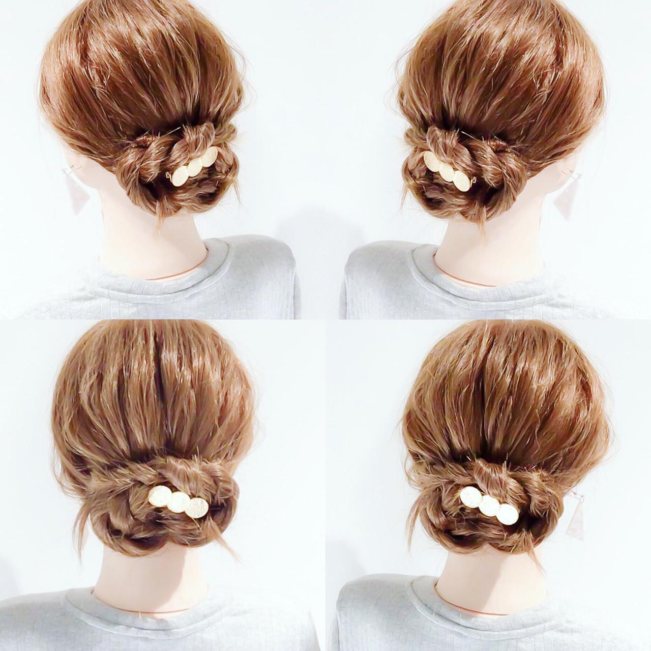ヘアアレンジ 簡単ヘアアレンジ アップスタイル ロング ヘアスタイルや髪型の写真・画像