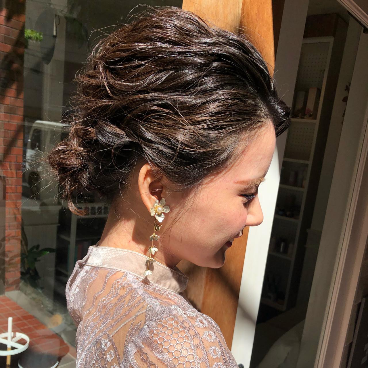 結婚式 成人式 ヘアアレンジ ナチュラル ヘアスタイルや髪型の写真・画像