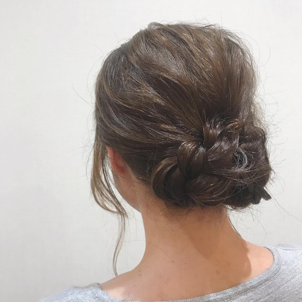 浴衣ヘア 浴衣アレンジ 三つ編み セミロング ヘアスタイルや髪型の写真・画像