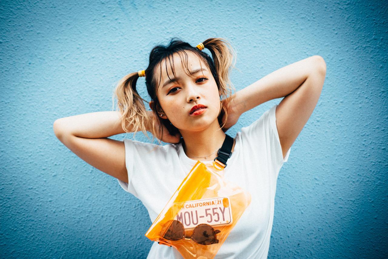 簡単ヘアアレンジ ガーリー ツインテール ミディアム ヘアスタイルや髪型の写真・画像