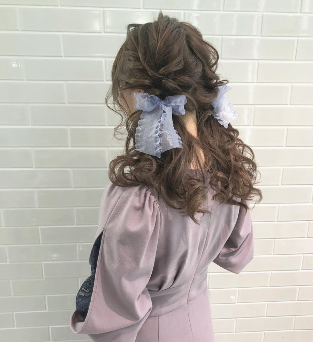 デート お呼ばれヘア ロング ヘアアレンジ ヘアスタイルや髪型の写真・画像