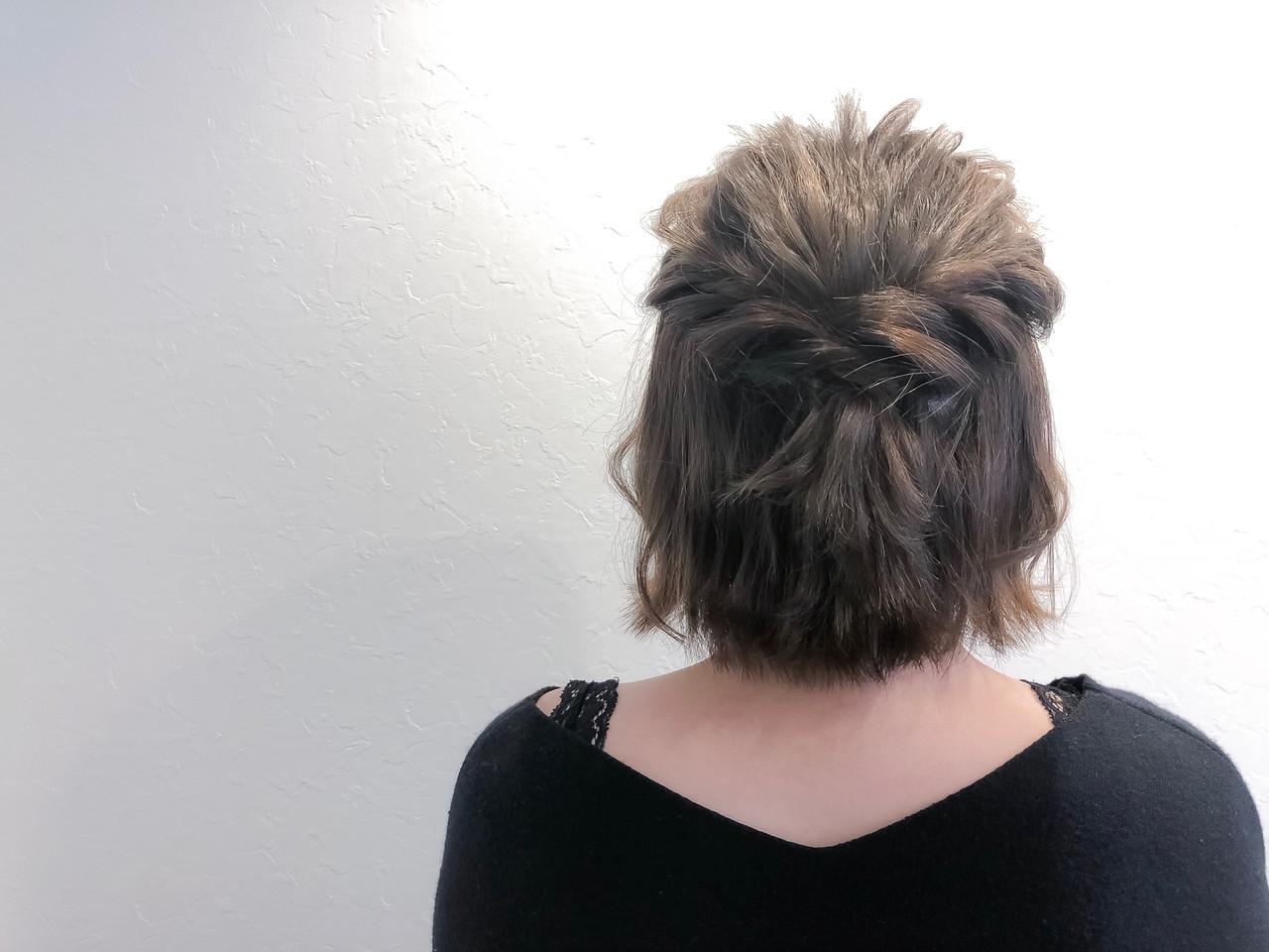 トリートメント 簡単ヘアアレンジ フェミニン ヘアカラー ヘアスタイルや髪型の写真・画像