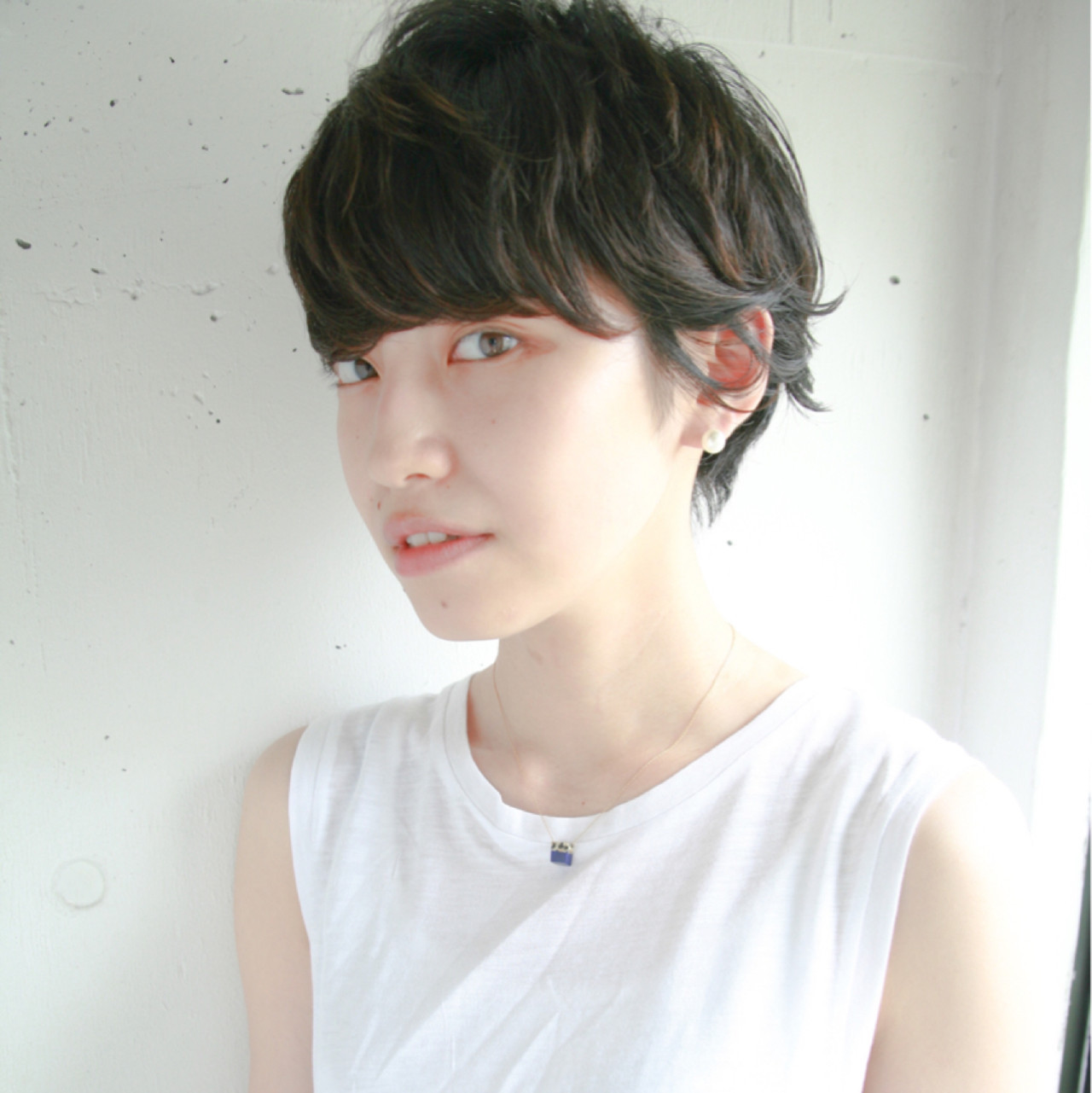 ワイドバング 前髪あり 透明感 黒髪 ヘアスタイルや髪型の写真・画像
