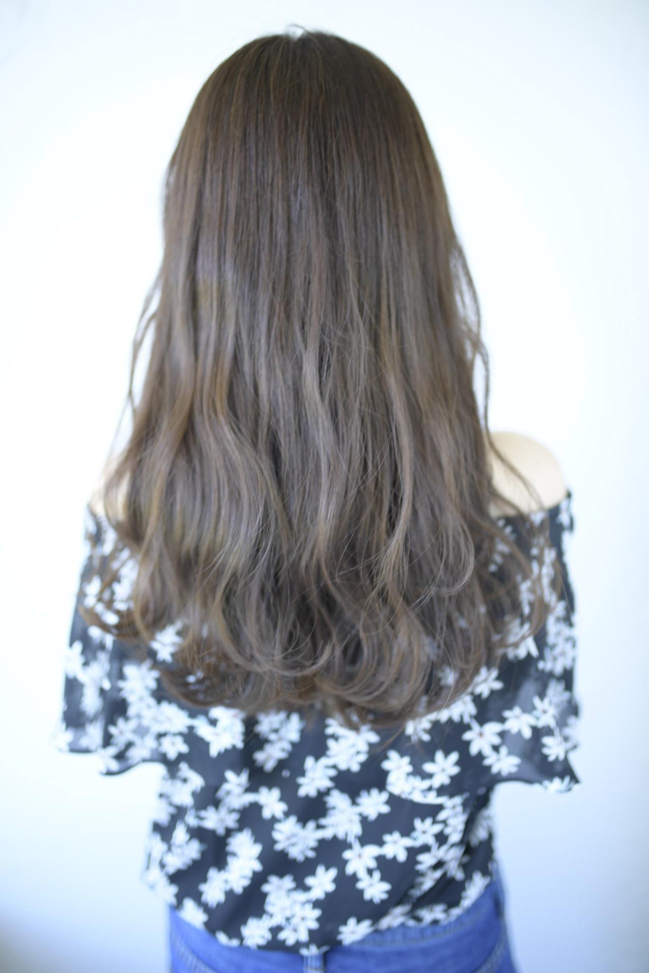 似合わせカット ロング ナチュラル 透明感 ヘアスタイルや髪型の写真・画像