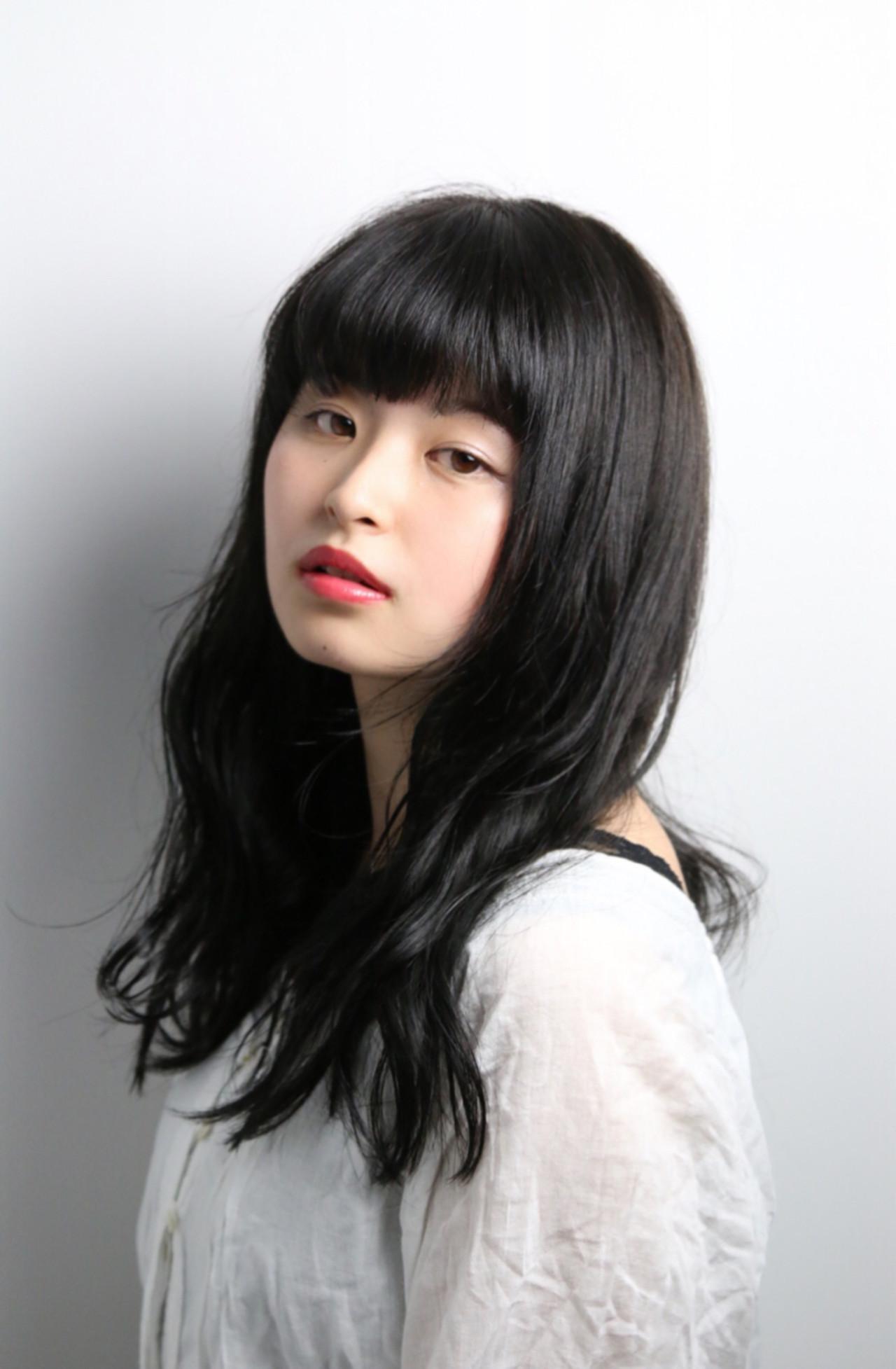 前髪あり 就活 暗髪 黒髪 ヘアスタイルや髪型の写真・画像