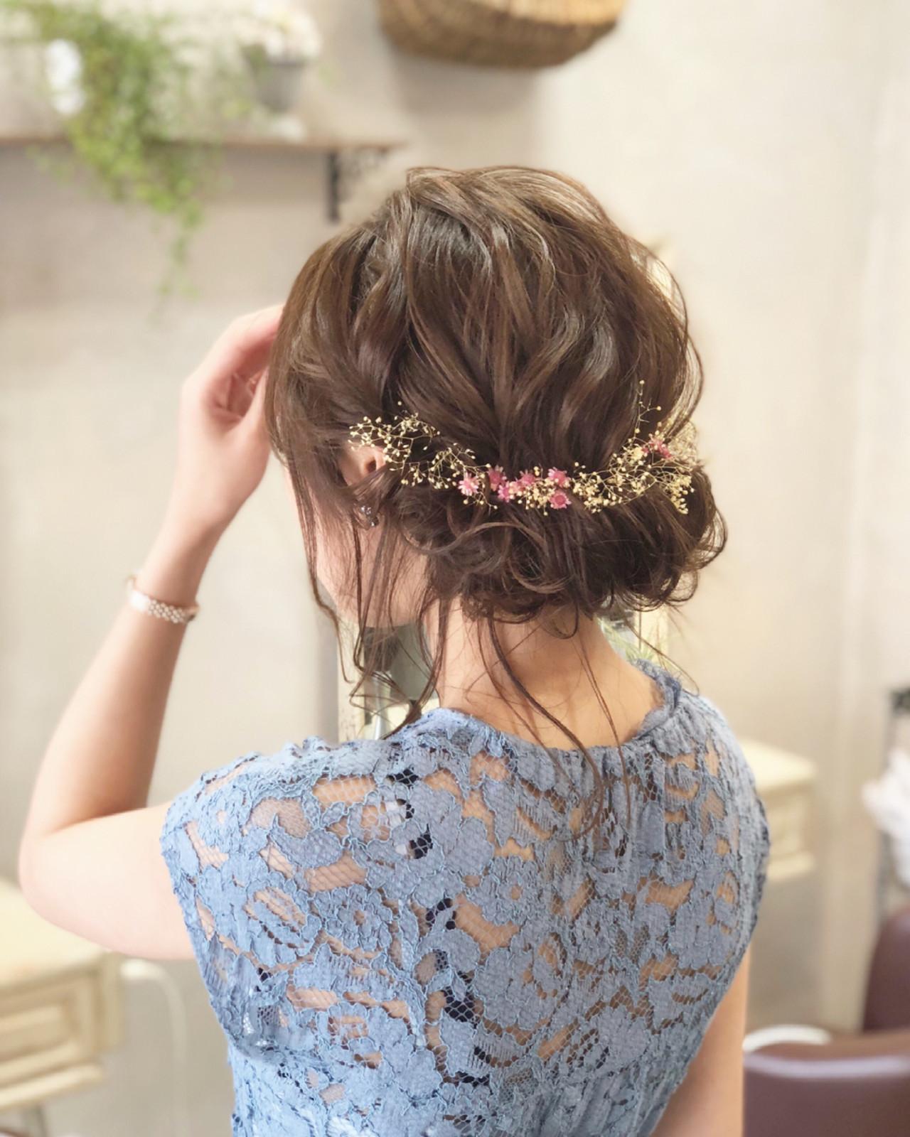 ギブソンタック 花火大会 セミロング お祭り ヘアスタイルや髪型の写真・画像