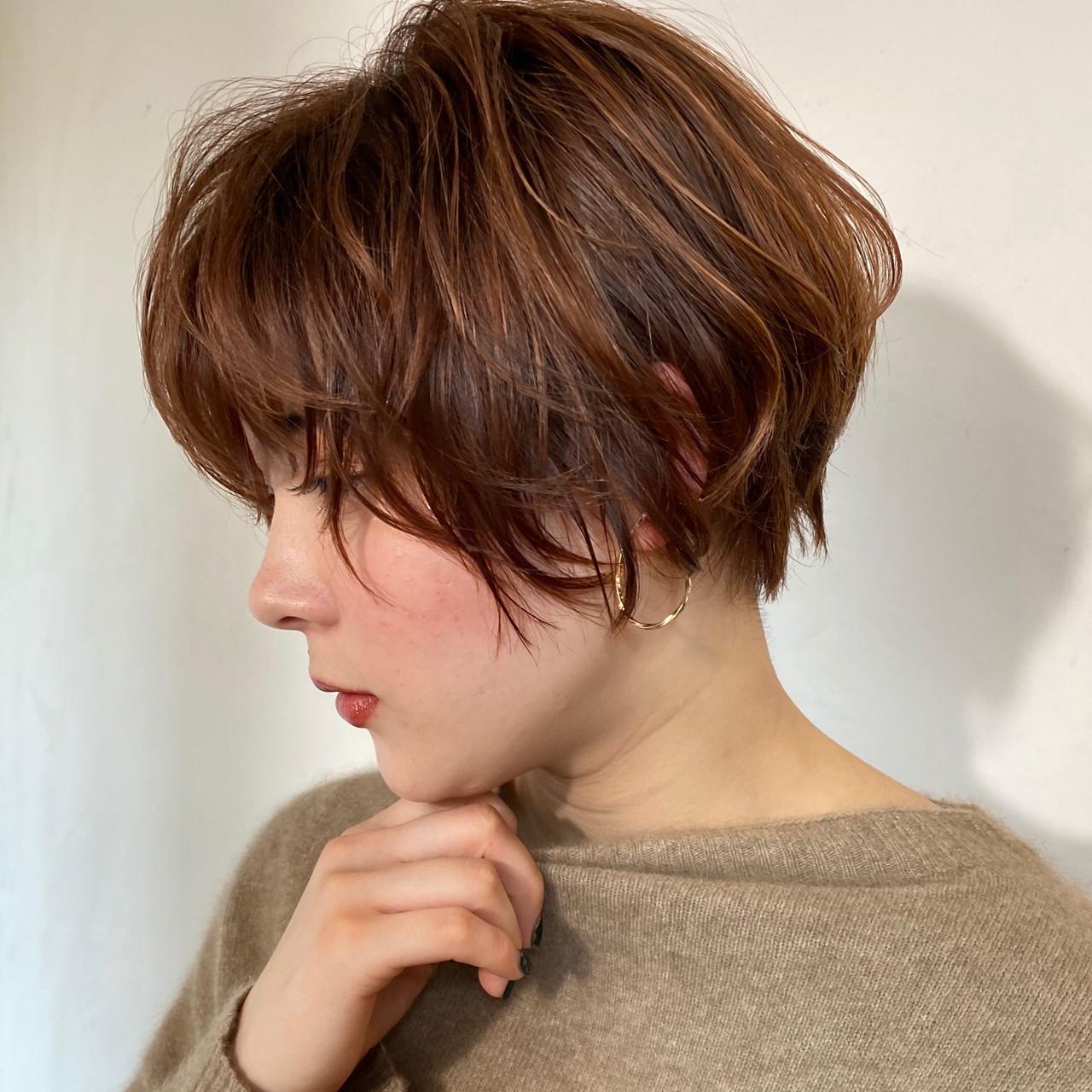 丸みショート ショート 大人可愛い フェミニン ヘアスタイルや髪型の写真・画像