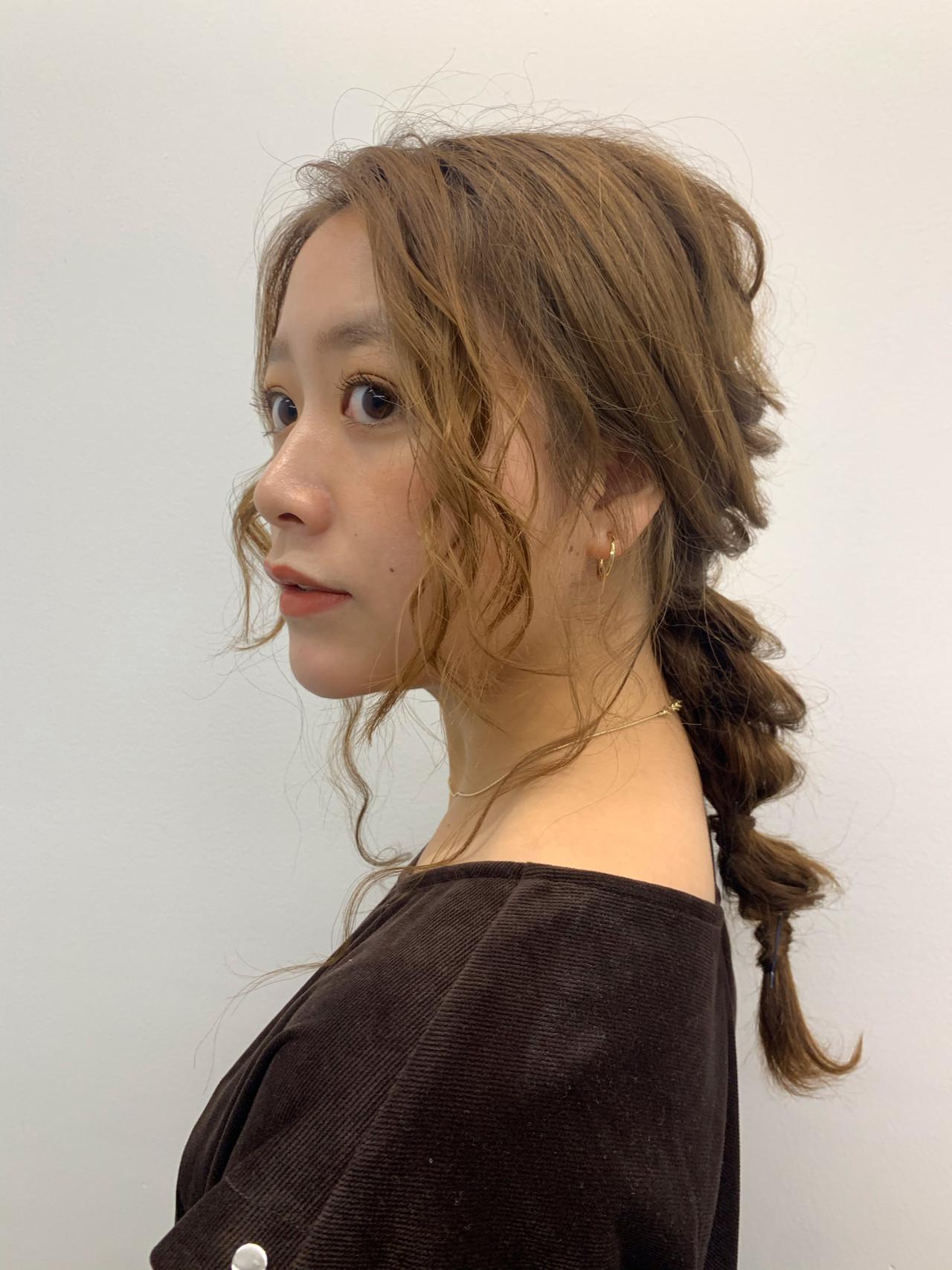 ガーリー ロング ヘアアレンジ 外国人風 ヘアスタイルや髪型の写真・画像
