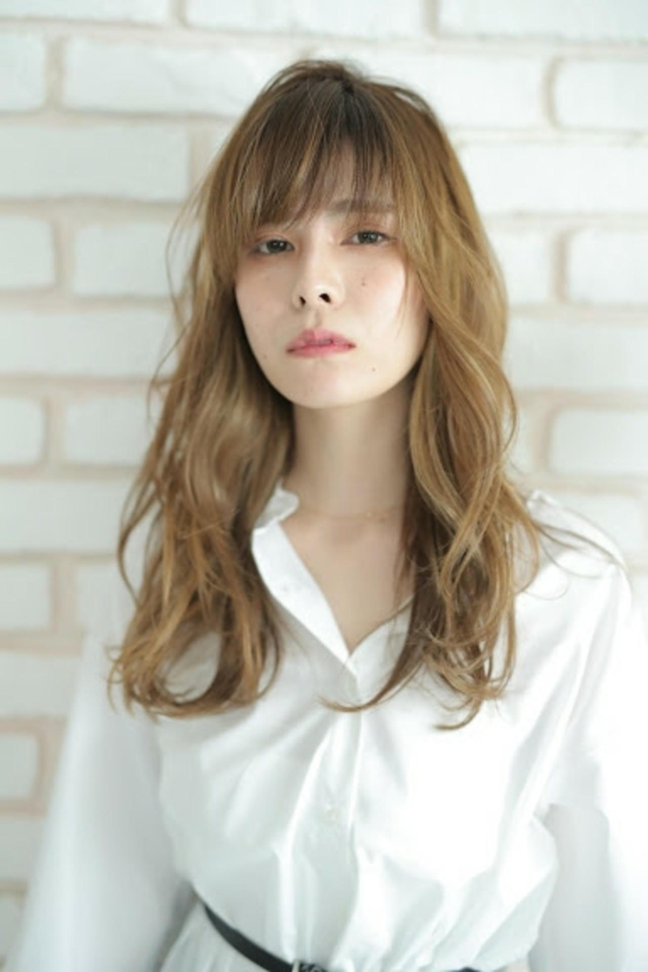 デジタルパーマ パーマ 外国人風 エレガント ヘアスタイルや髪型の写真・画像
