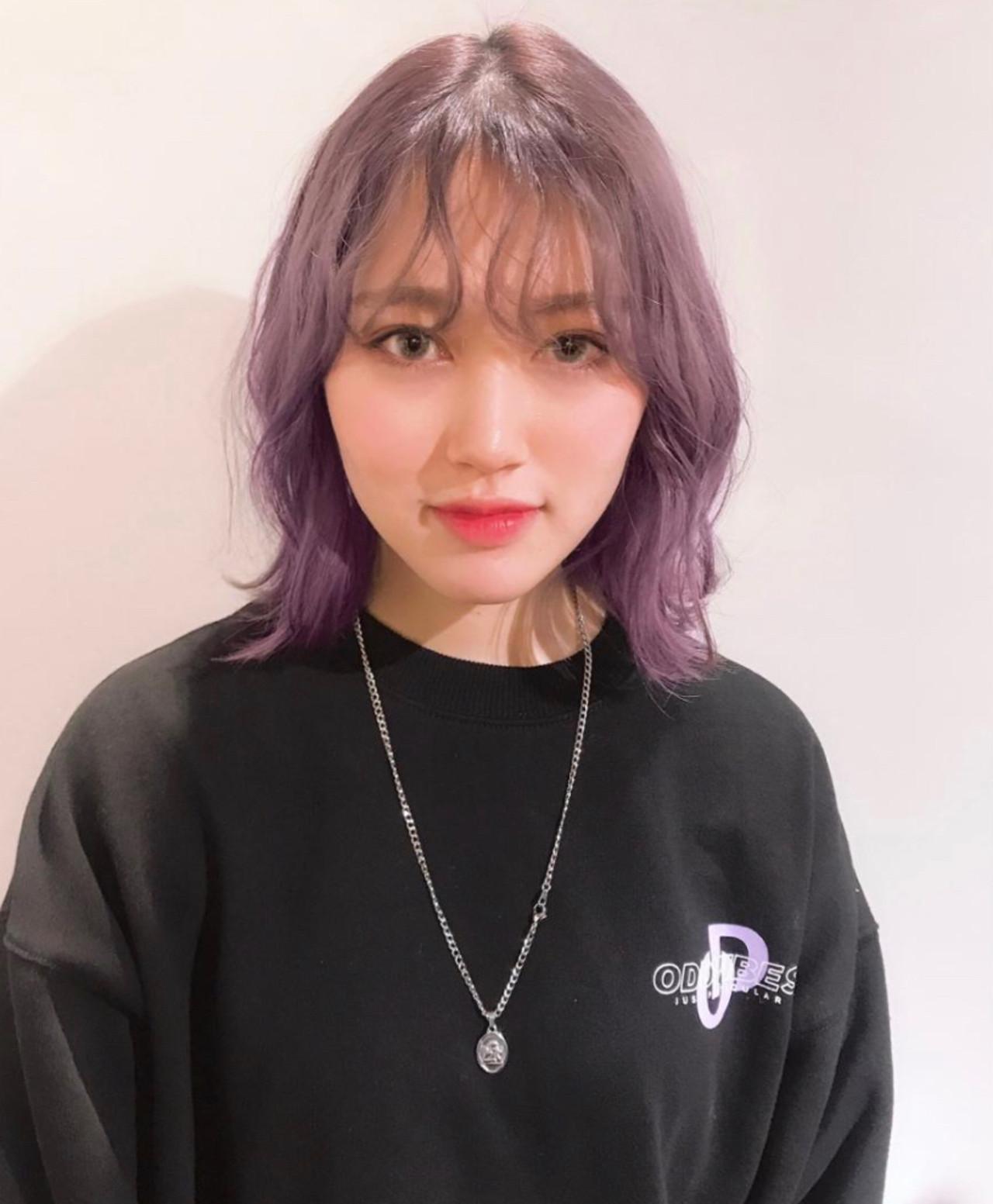 ストリート 韓国 韓国ヘア ボブ ヘアスタイルや髪型の写真・画像