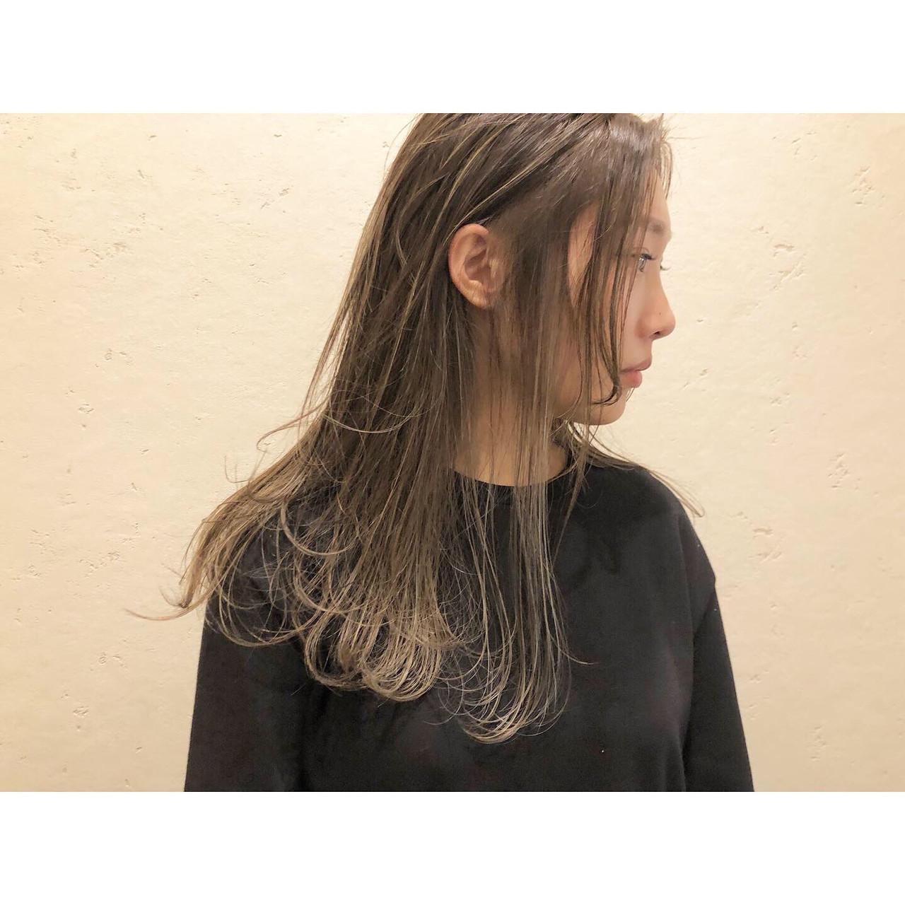 ハイライト ロング 花嫁 コントラストハイライト ヘアスタイルや髪型の写真・画像