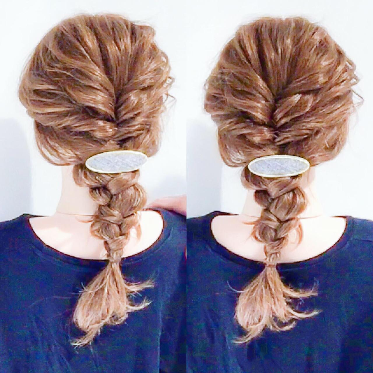 フェミニン セルフアレンジ ヘアアレンジ 簡単ヘアアレンジ ヘアスタイルや髪型の写真・画像