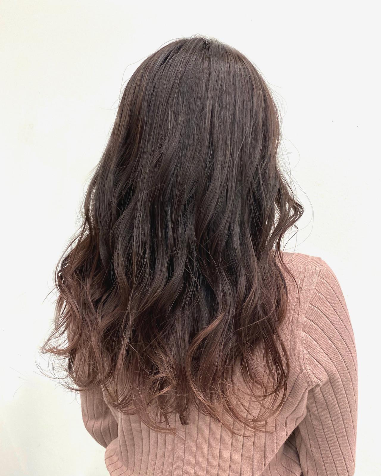 ラベンダーアッシュ モテ髪 フェミニン 春 ヘアスタイルや髪型の写真・画像