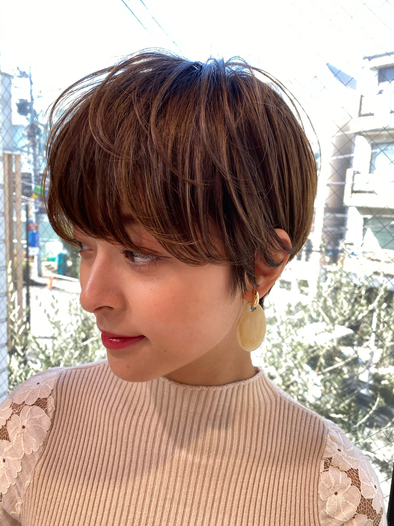 ショート 大人かわいい ナチュラル アンニュイほつれヘア ヘアスタイルや髪型の写真・画像