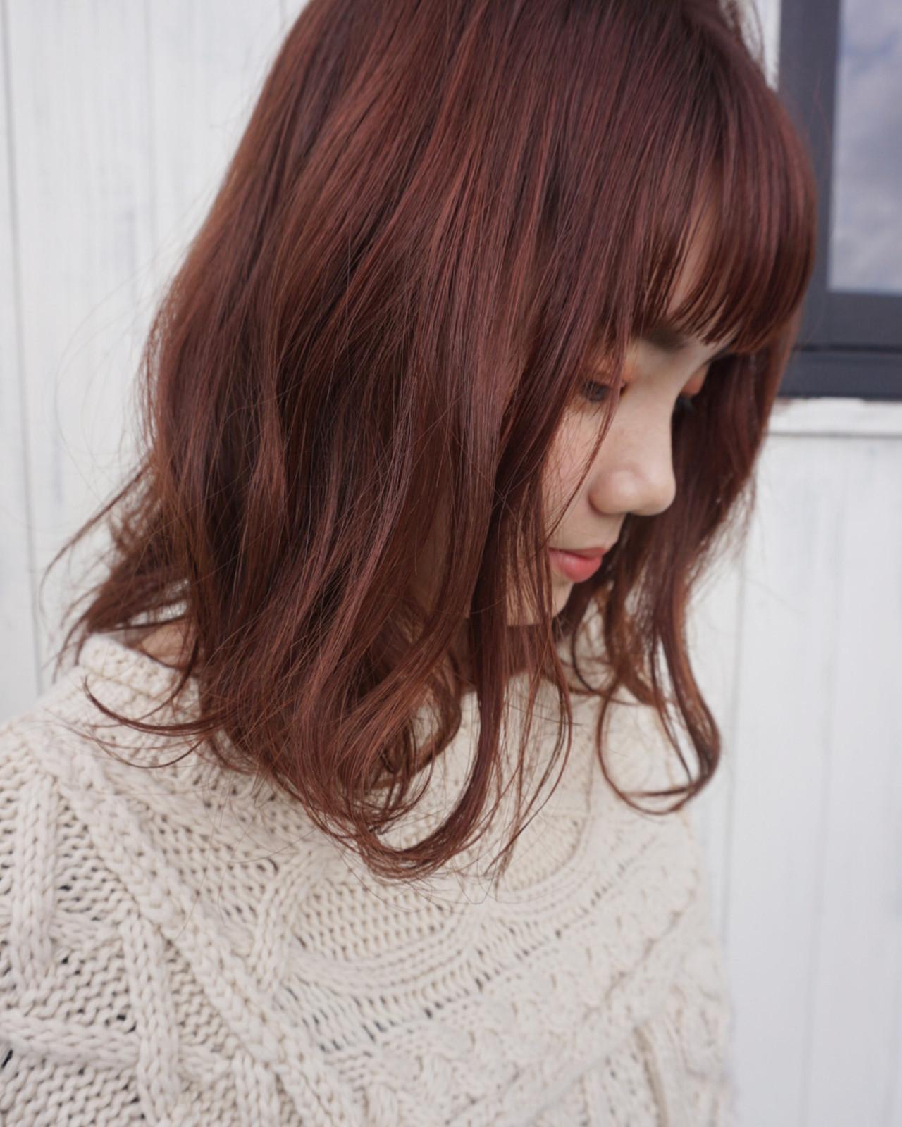 透明感カラー ピンクベージュ ゆる巻き ピンク ヘアスタイルや髪型の写真・画像