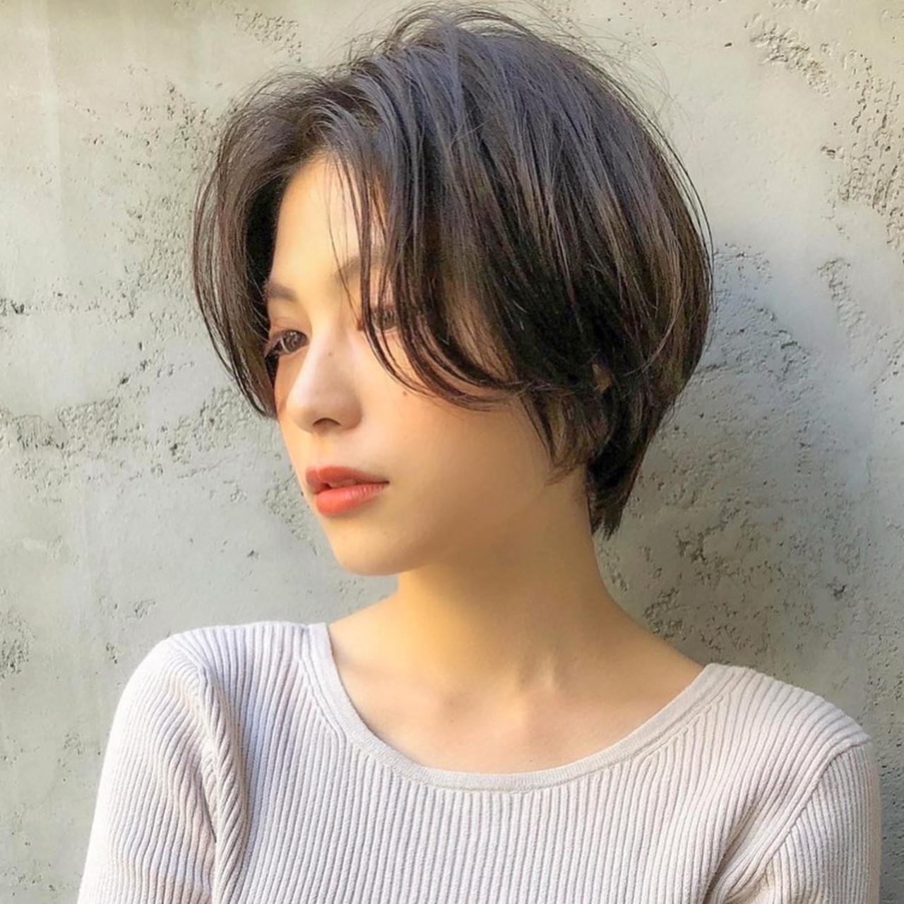 ナチュラル ベリーショート ミニボブ ショートボブ ヘアスタイルや髪型の写真・画像