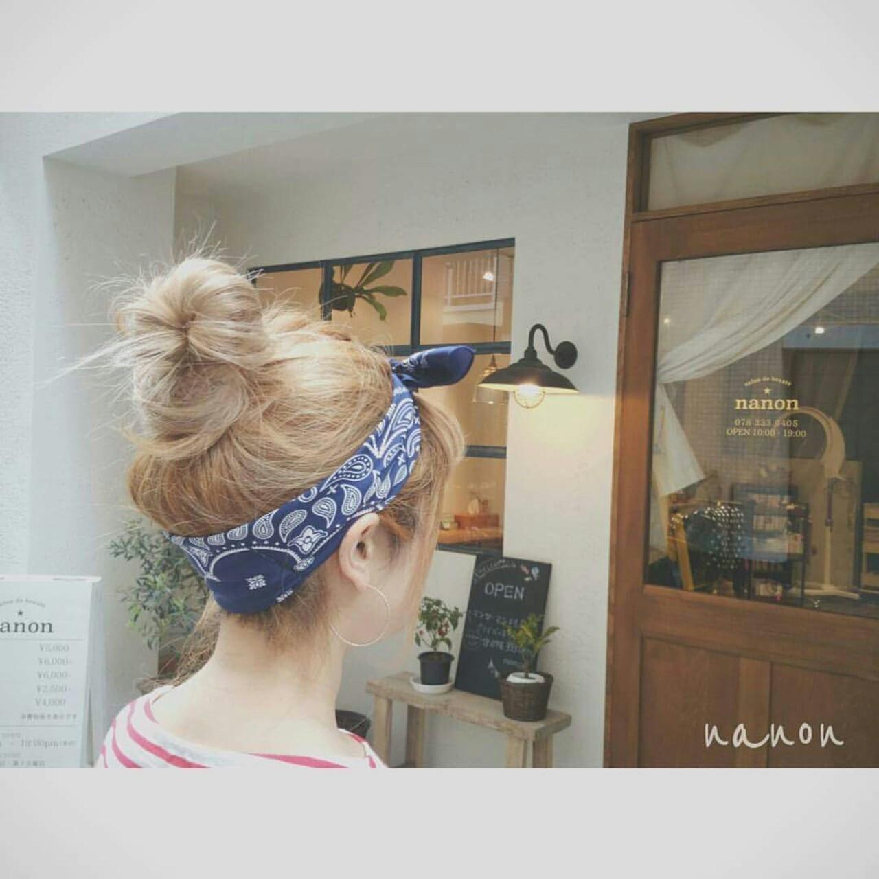 ロング ストリート バンダナ 夏 ヘアスタイルや髪型の写真・画像