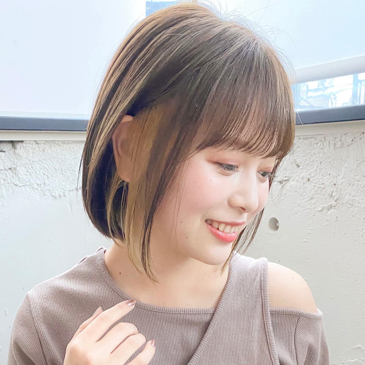 ひし形シルエット アンニュイほつれヘア ボブ ショートヘア ヘアスタイルや髪型の写真・画像