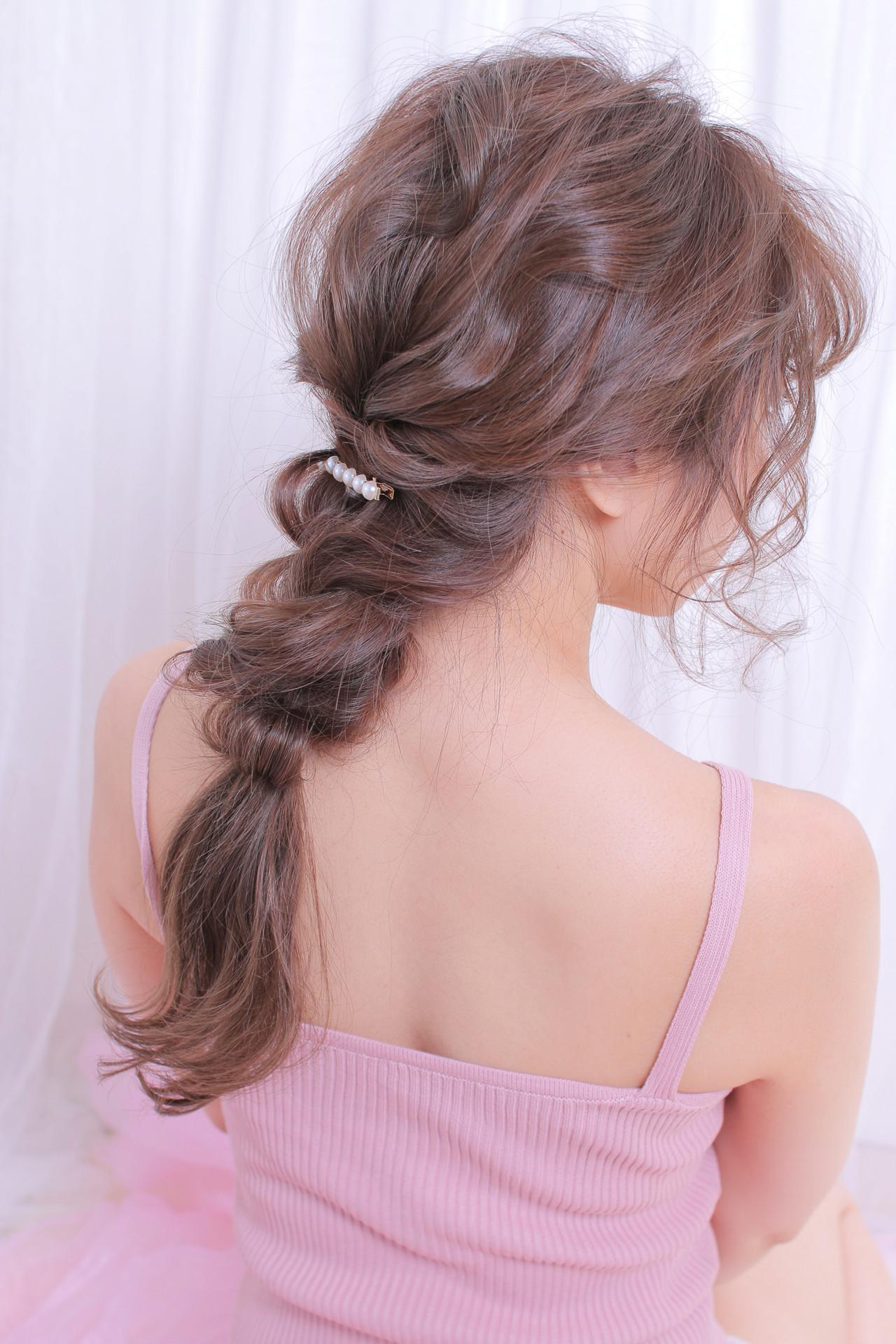 アンニュイほつれヘア ゆるふわセット ロング 撮影 ヘアスタイルや髪型の写真・画像
