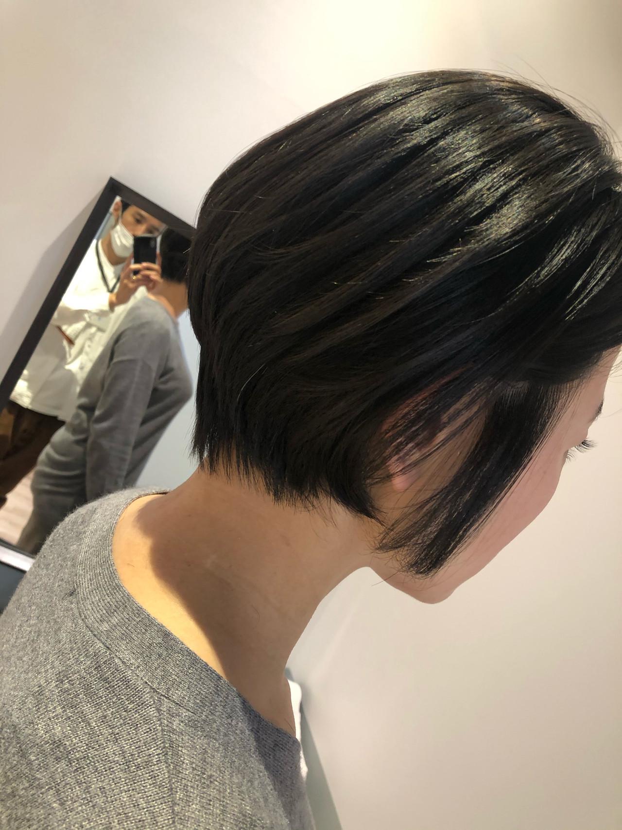 ショートヘア ショート ショートボブ 髪質改善トリートメント ヘアスタイルや髪型の写真・画像