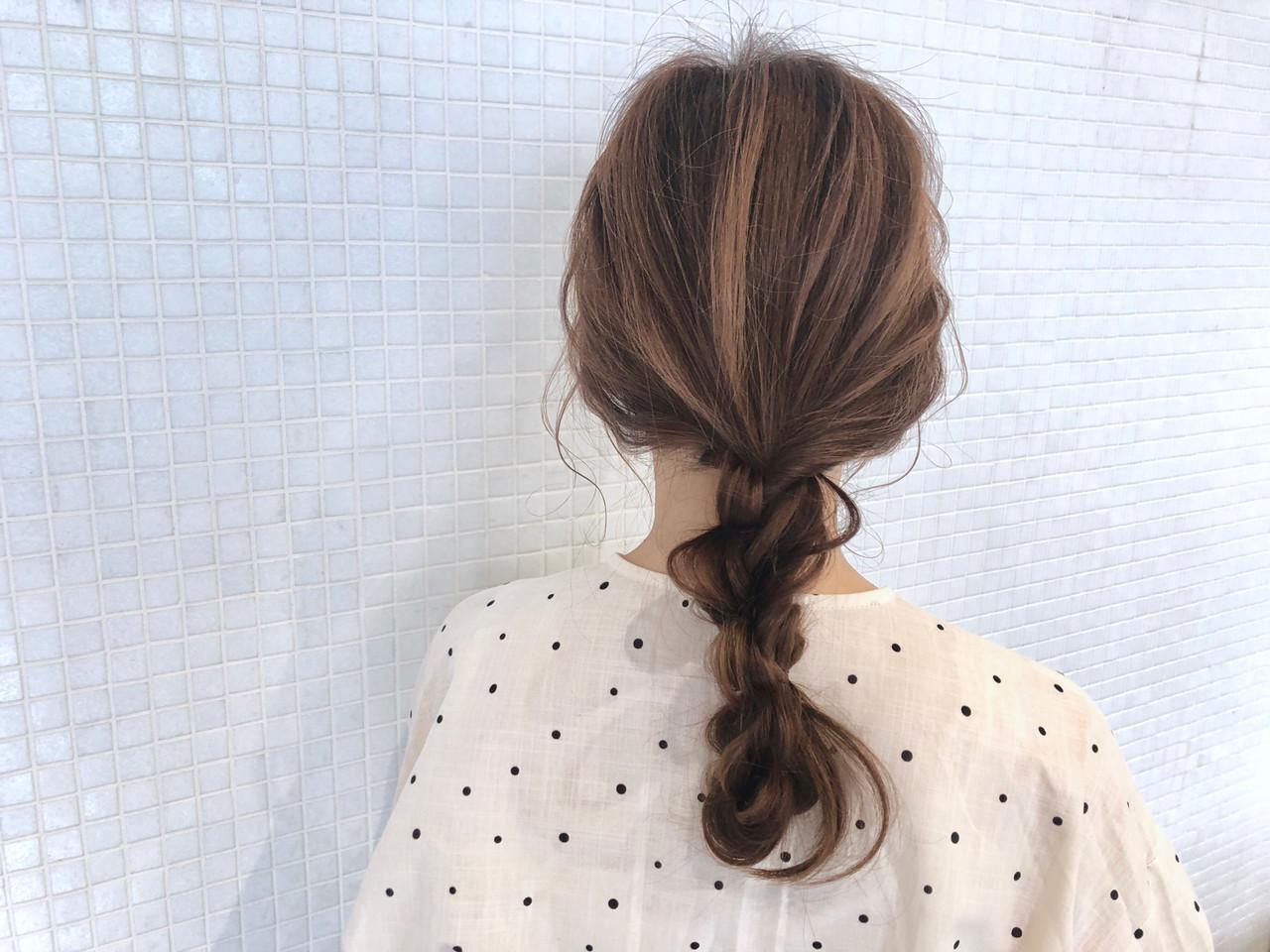 ヘアアレンジ お出かけヘア 簡単ヘアアレンジ 編みおろしヘア ヘアスタイルや髪型の写真・画像