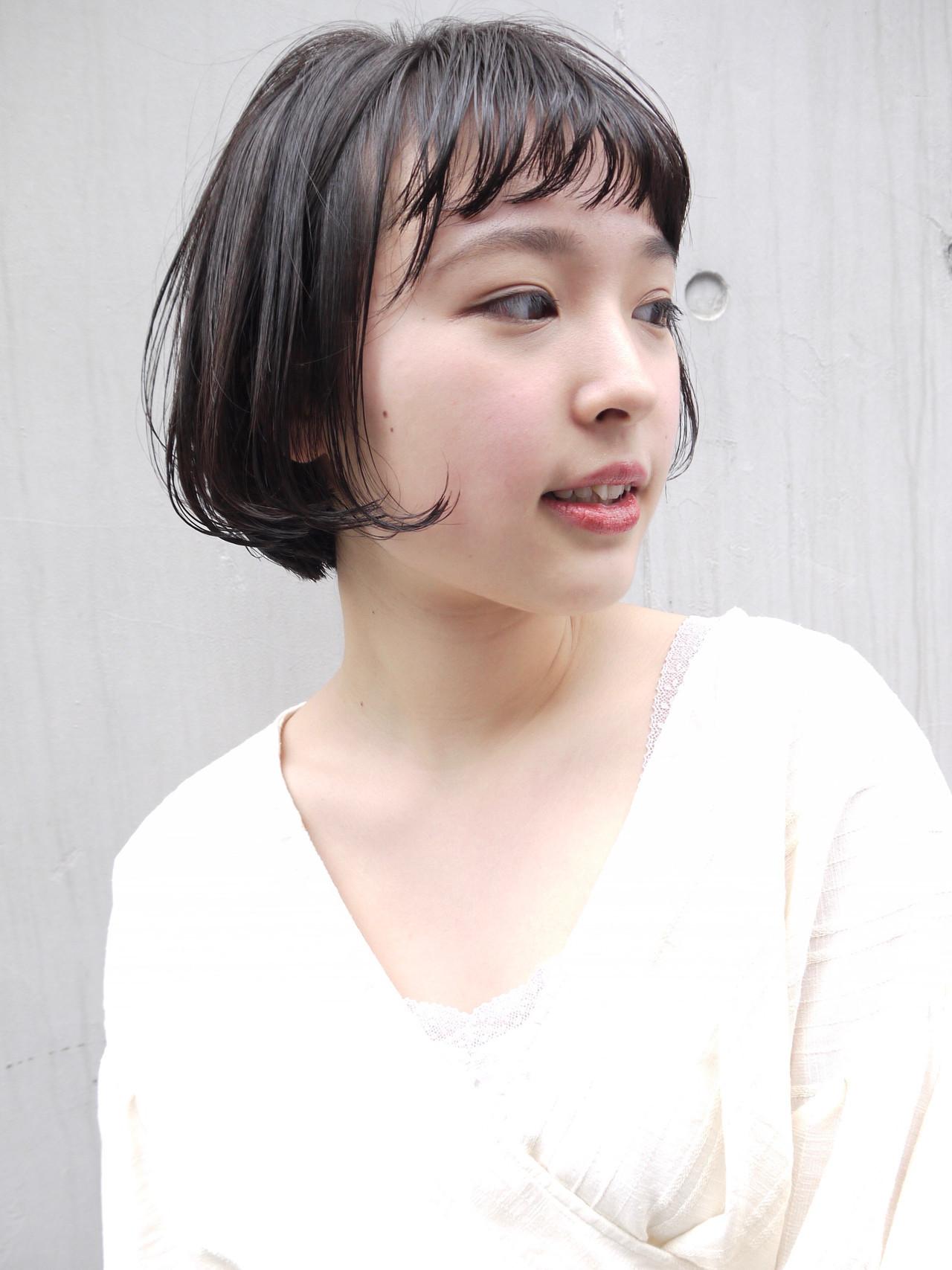 黒髪 ショート デート ガーリー ヘアスタイルや髪型の写真・画像