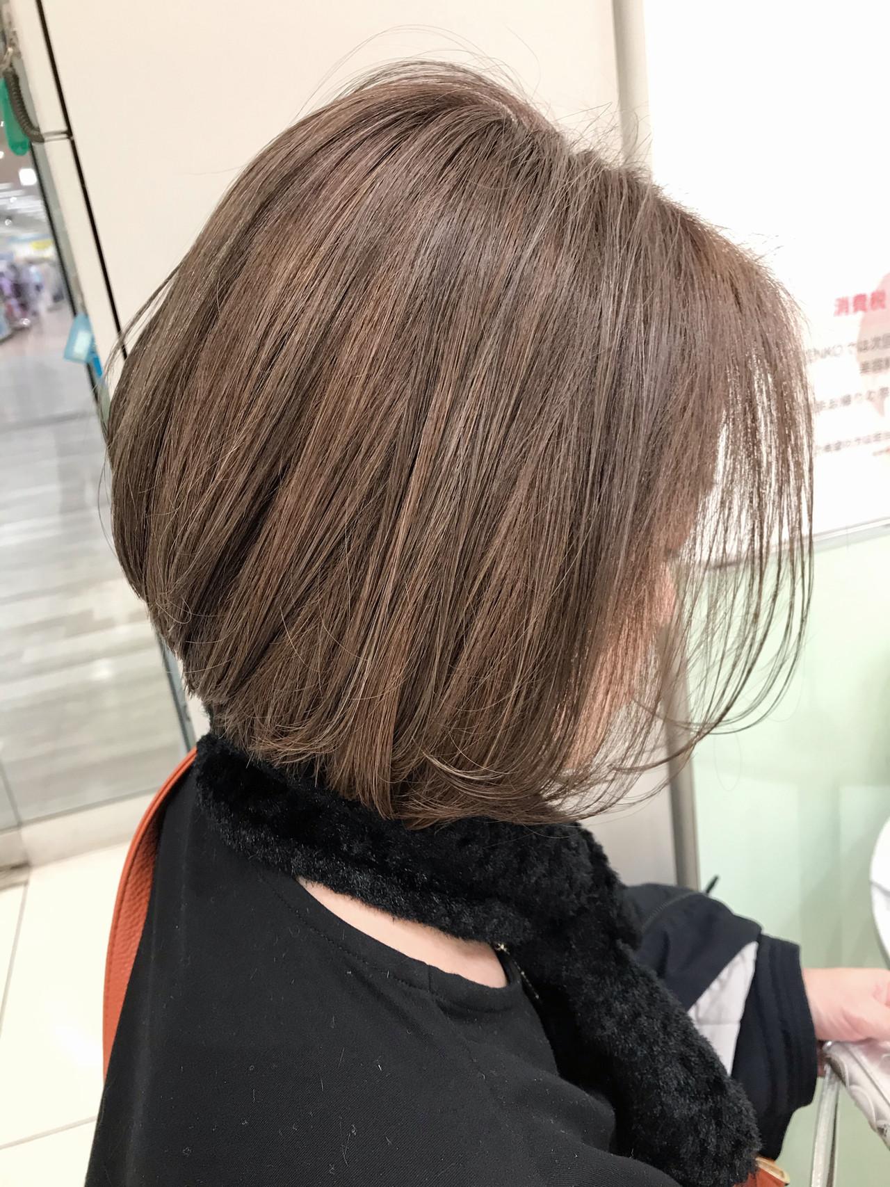 ショートボブ ハイライト ボブ ショートヘア ヘアスタイルや髪型の写真・画像