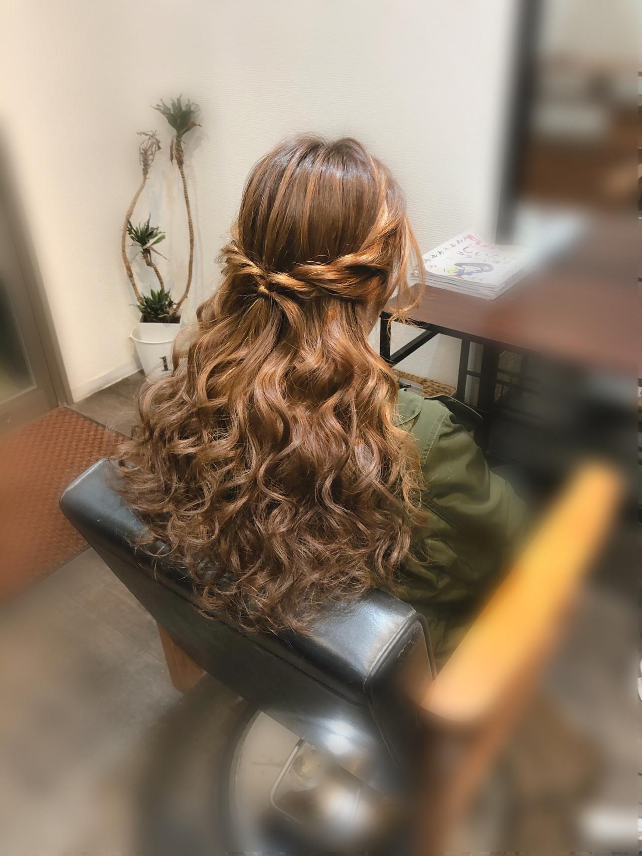 ロング ヘアアレンジ ヘアセット ブライダル ヘアスタイルや髪型の写真・画像