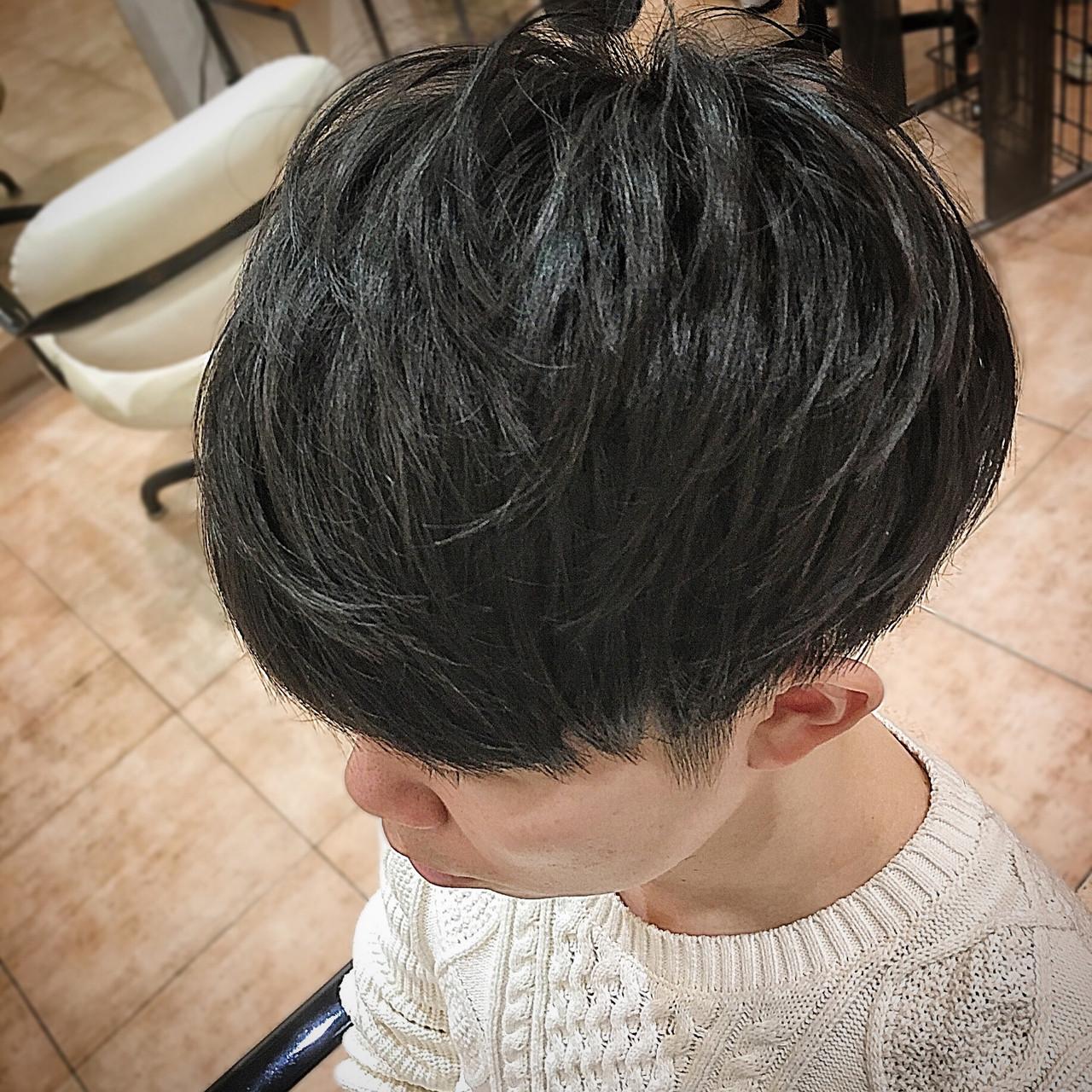 メンズ レイヤー ショート ショートマッシュ ヘアスタイルや髪型の写真・画像
