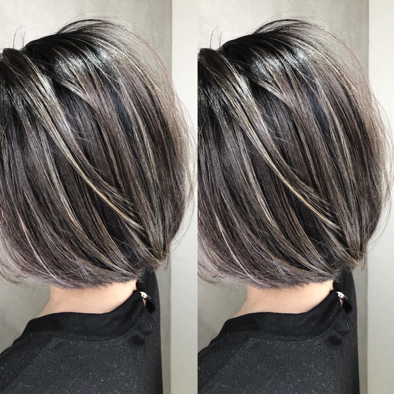 グラデーションカラー 外国人風 アウトドア ショート ヘアスタイルや髪型の写真・画像